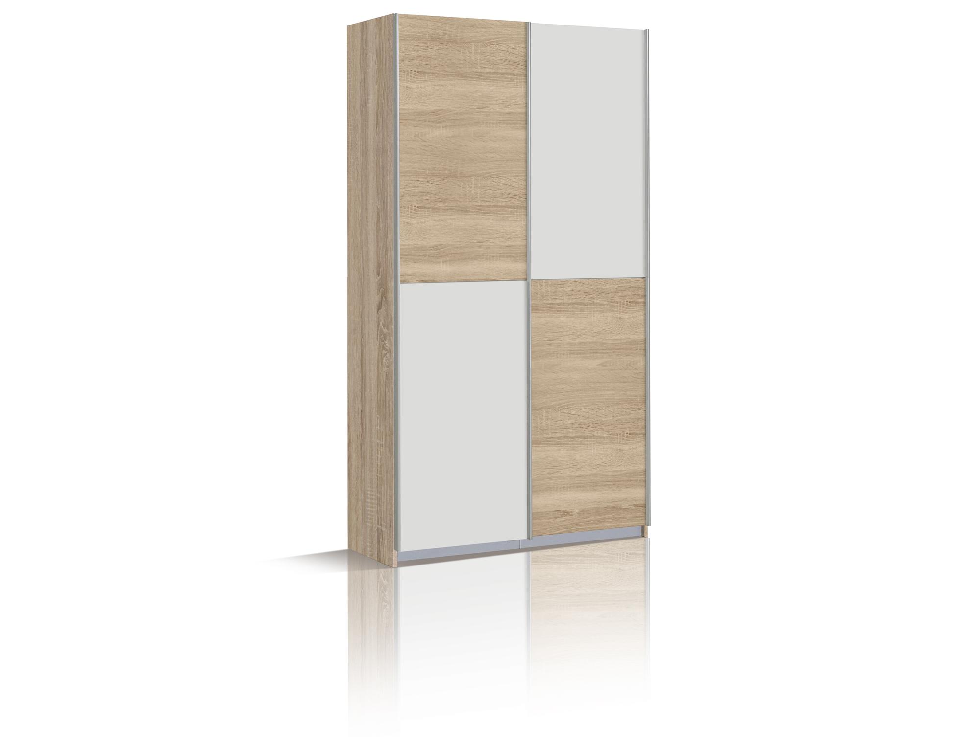 oreno mehrzweckschrank kleiderschrank eiche sonoma weiss. Black Bedroom Furniture Sets. Home Design Ideas