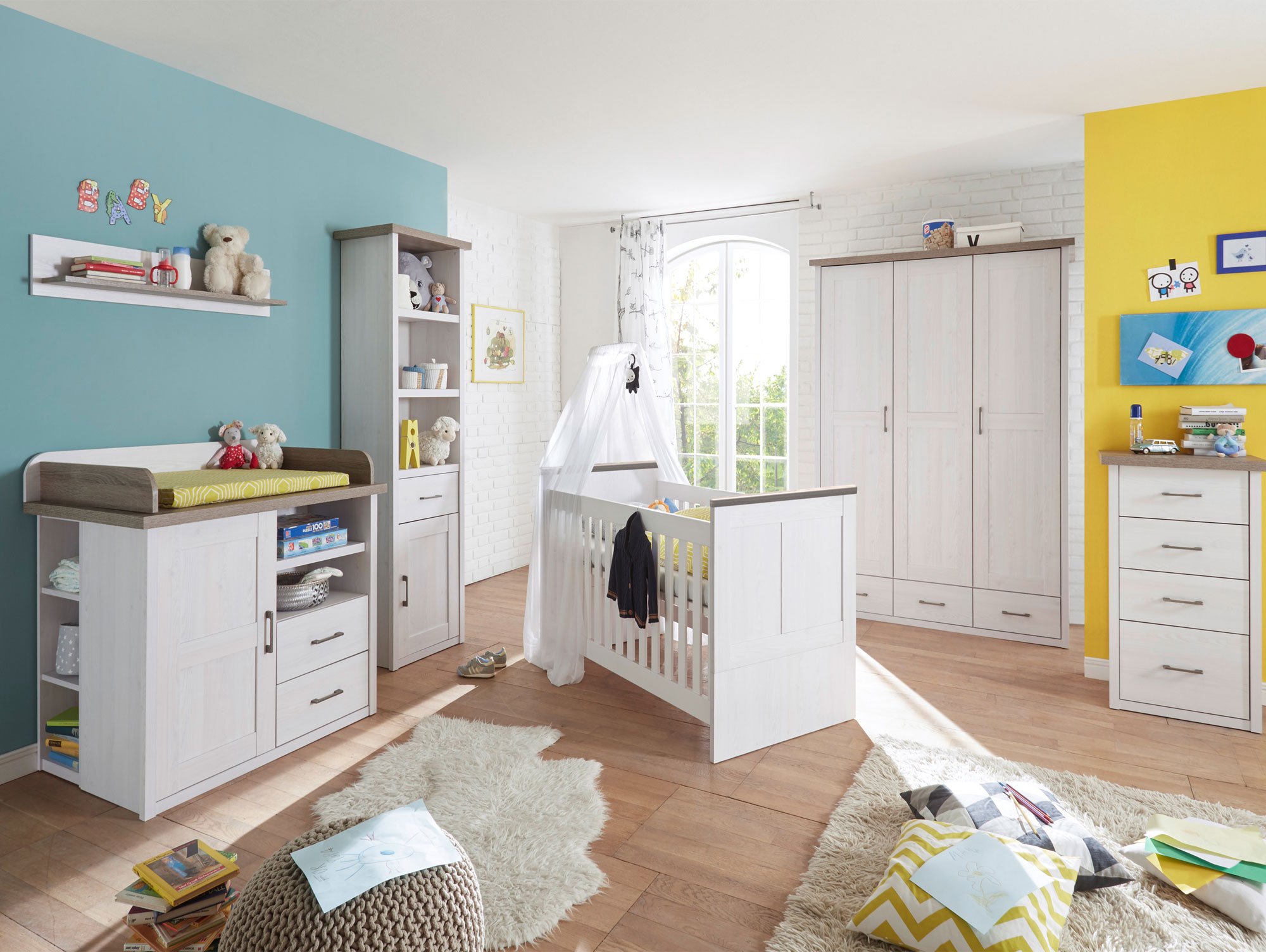 lucy wandregal pinie wei tr ffel. Black Bedroom Furniture Sets. Home Design Ideas