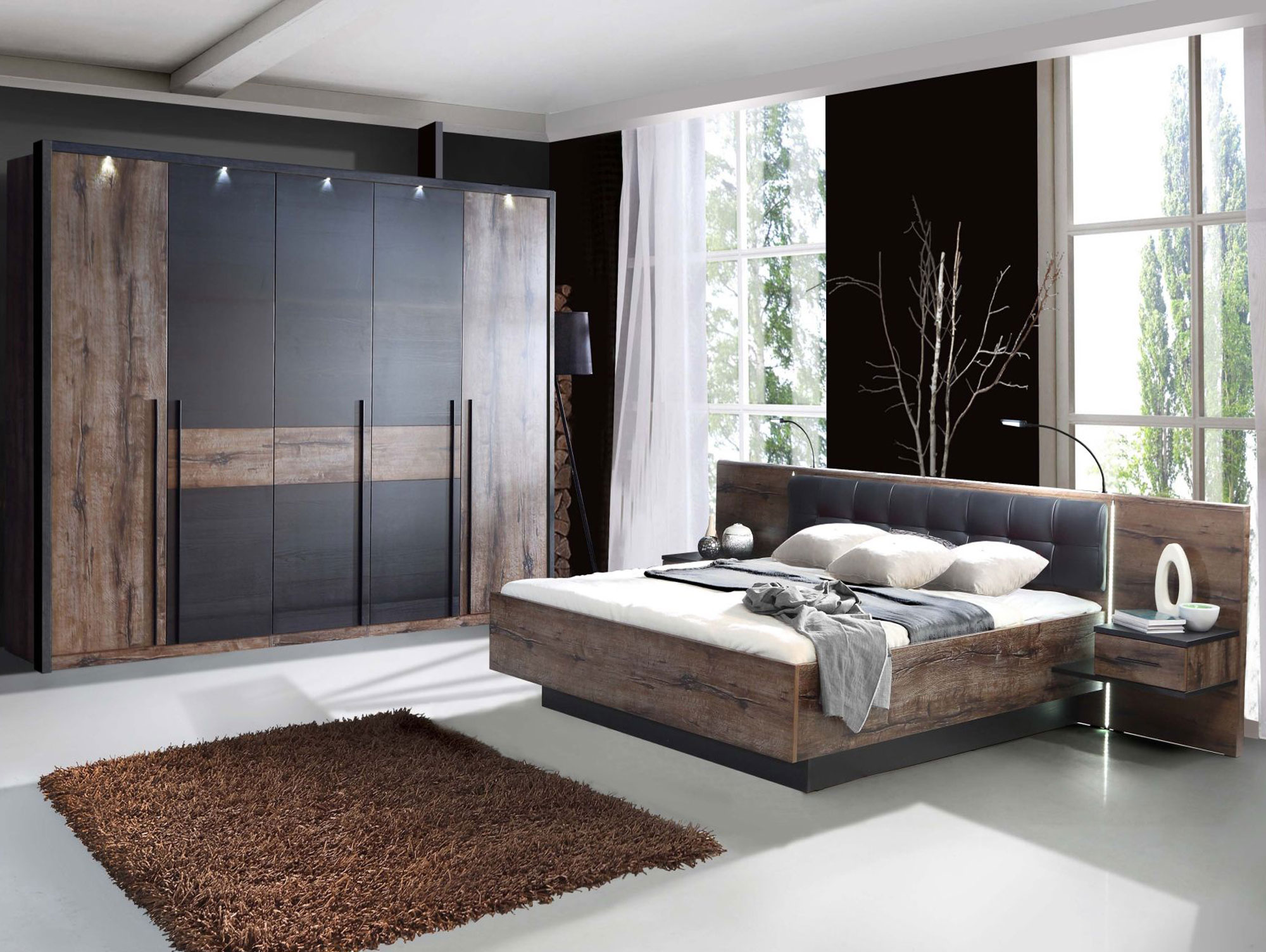 erlin kleiderschrank schlammeiche schwarzeiche. Black Bedroom Furniture Sets. Home Design Ideas