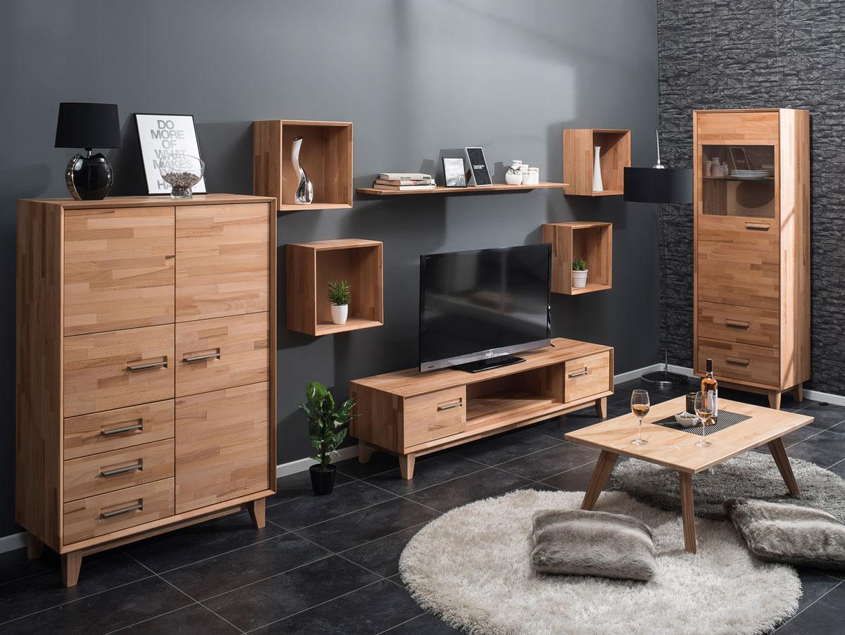 nepal highboard kommode massiv ge lt kernbuche. Black Bedroom Furniture Sets. Home Design Ideas