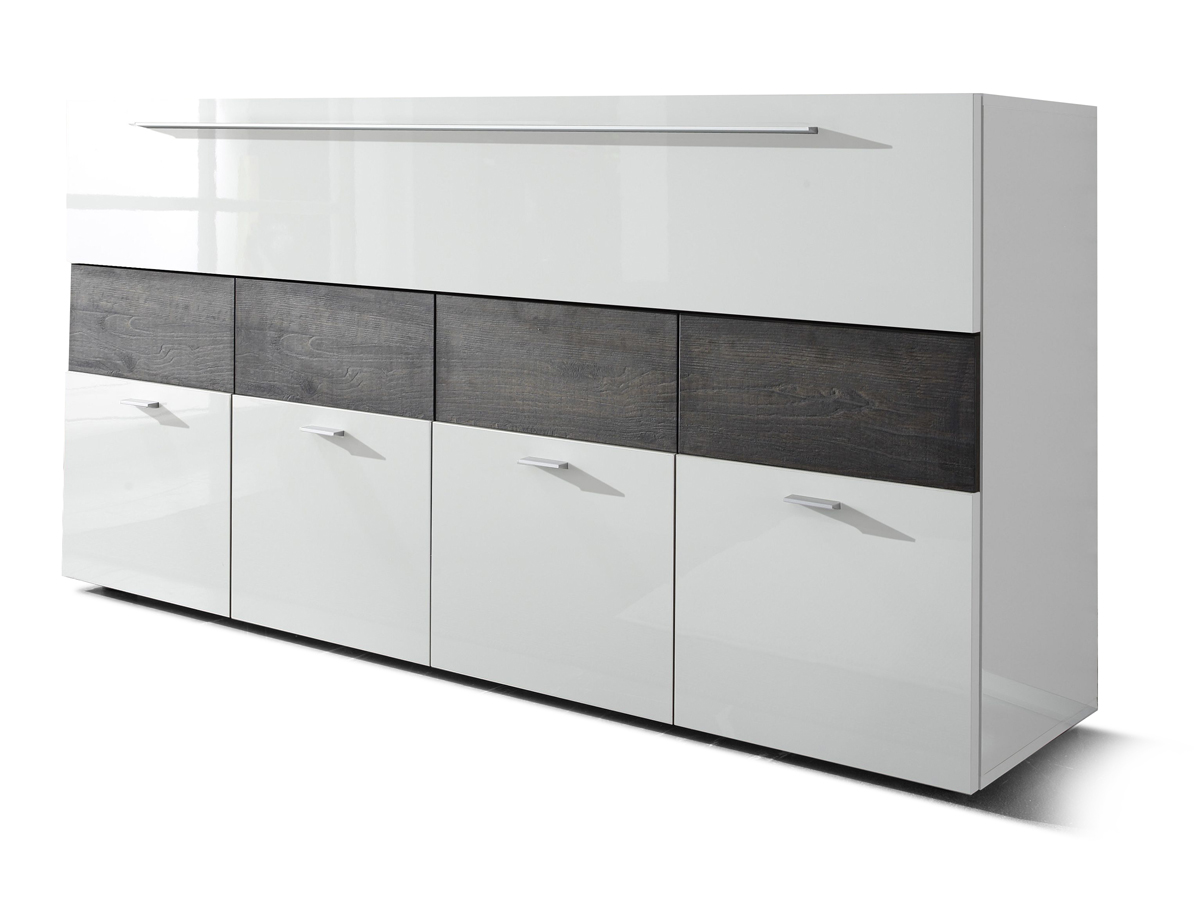 london sideboard weiss hg eiche wenge. Black Bedroom Furniture Sets. Home Design Ideas