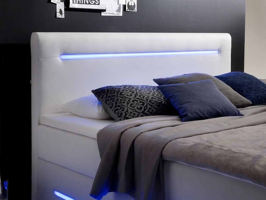 Lonni Boxspringbett Inklusive Led Beleuchtung Material