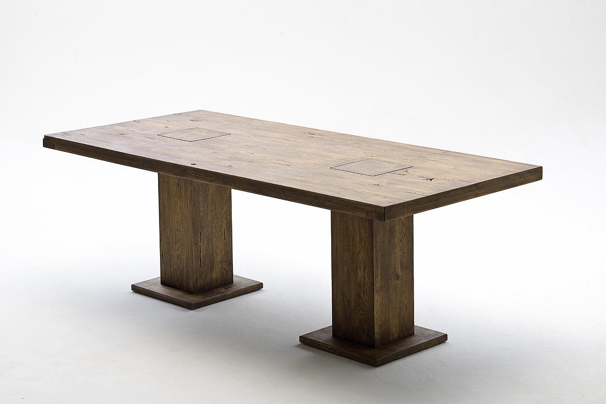 Malik massivholz s ulentisch eiche 180x90 cm bassano for Esstisch 50x50