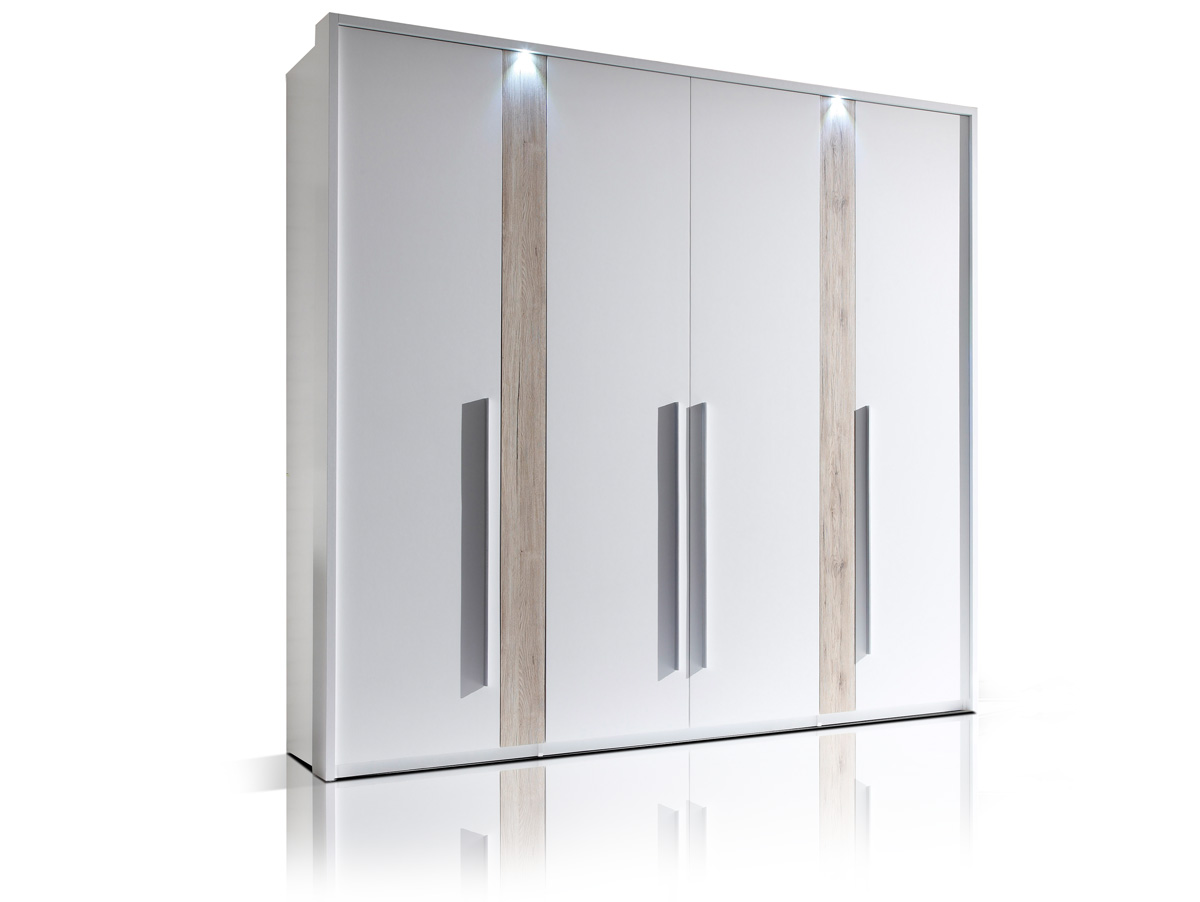 mandy kleiderschrank 4 t rig weiss san remo. Black Bedroom Furniture Sets. Home Design Ideas