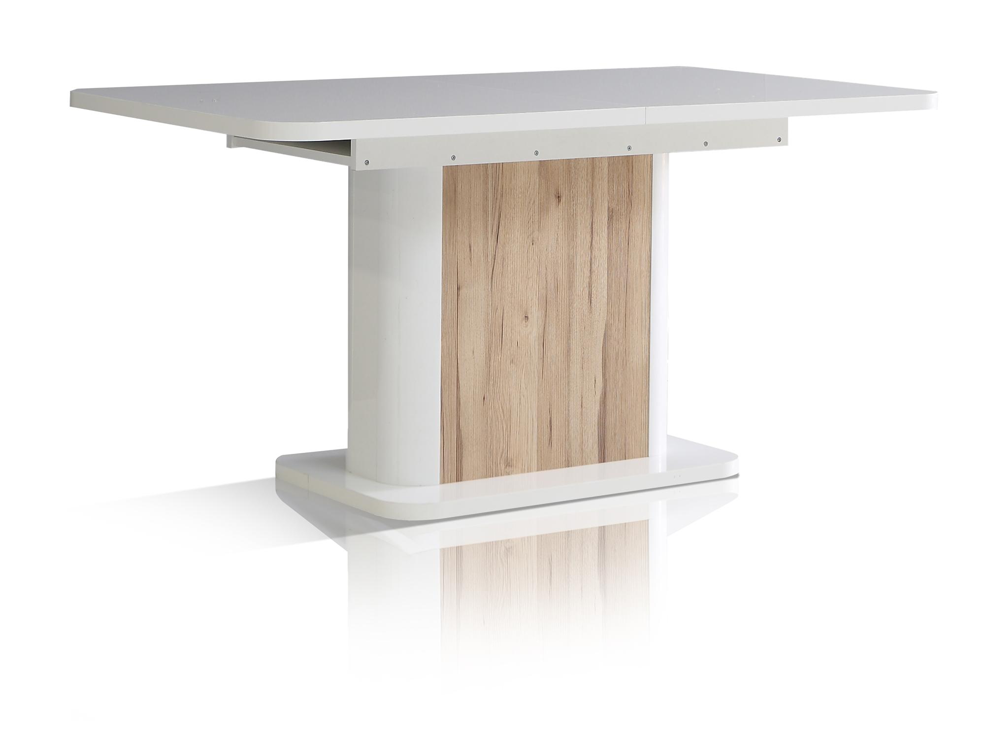 Esstisch eiche weiß ausziehbar  Esstisch Ausziehbar Auf 200 Cm Braun Weiß ~ CARPROLA for .