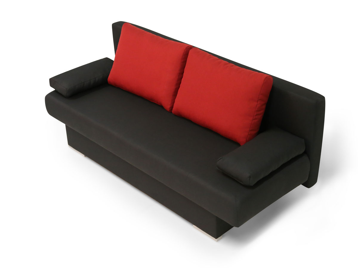 bettsofa rot free ikea with bettsofa rot er sofa schlafsofa darwin schwarz rot bordeaux wei. Black Bedroom Furniture Sets. Home Design Ideas