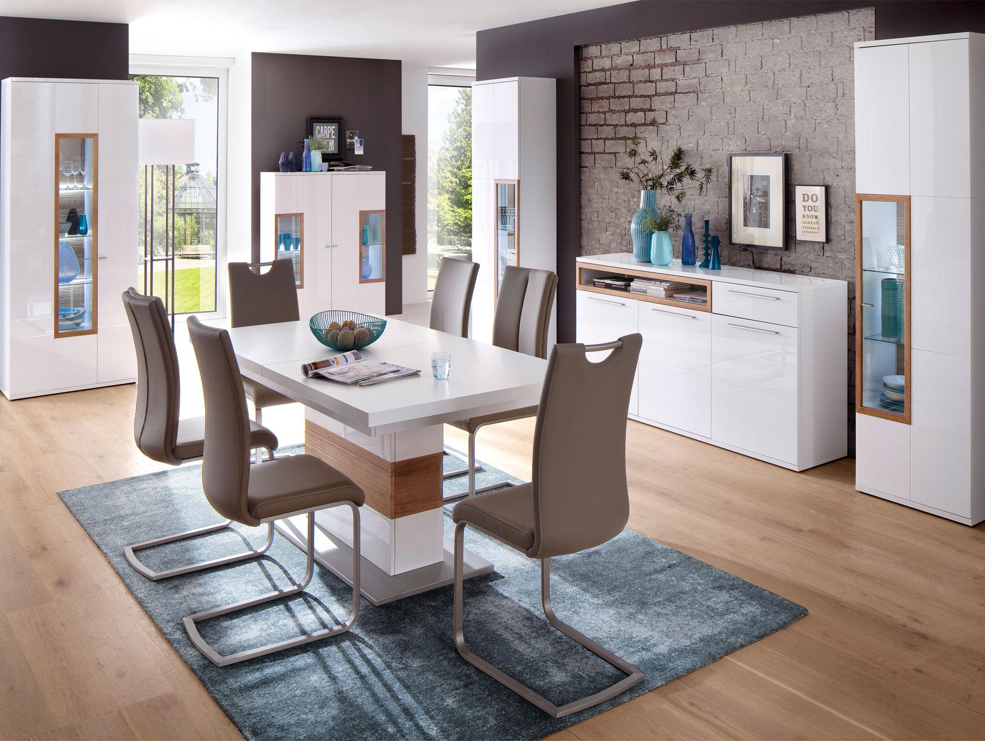 pancras i kombi vitrine wei eiche riviera. Black Bedroom Furniture Sets. Home Design Ideas