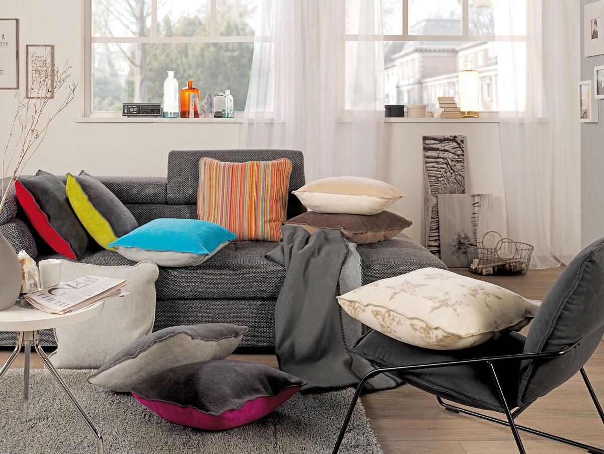 soel kissenh lle 50x50 cm grau weiss. Black Bedroom Furniture Sets. Home Design Ideas