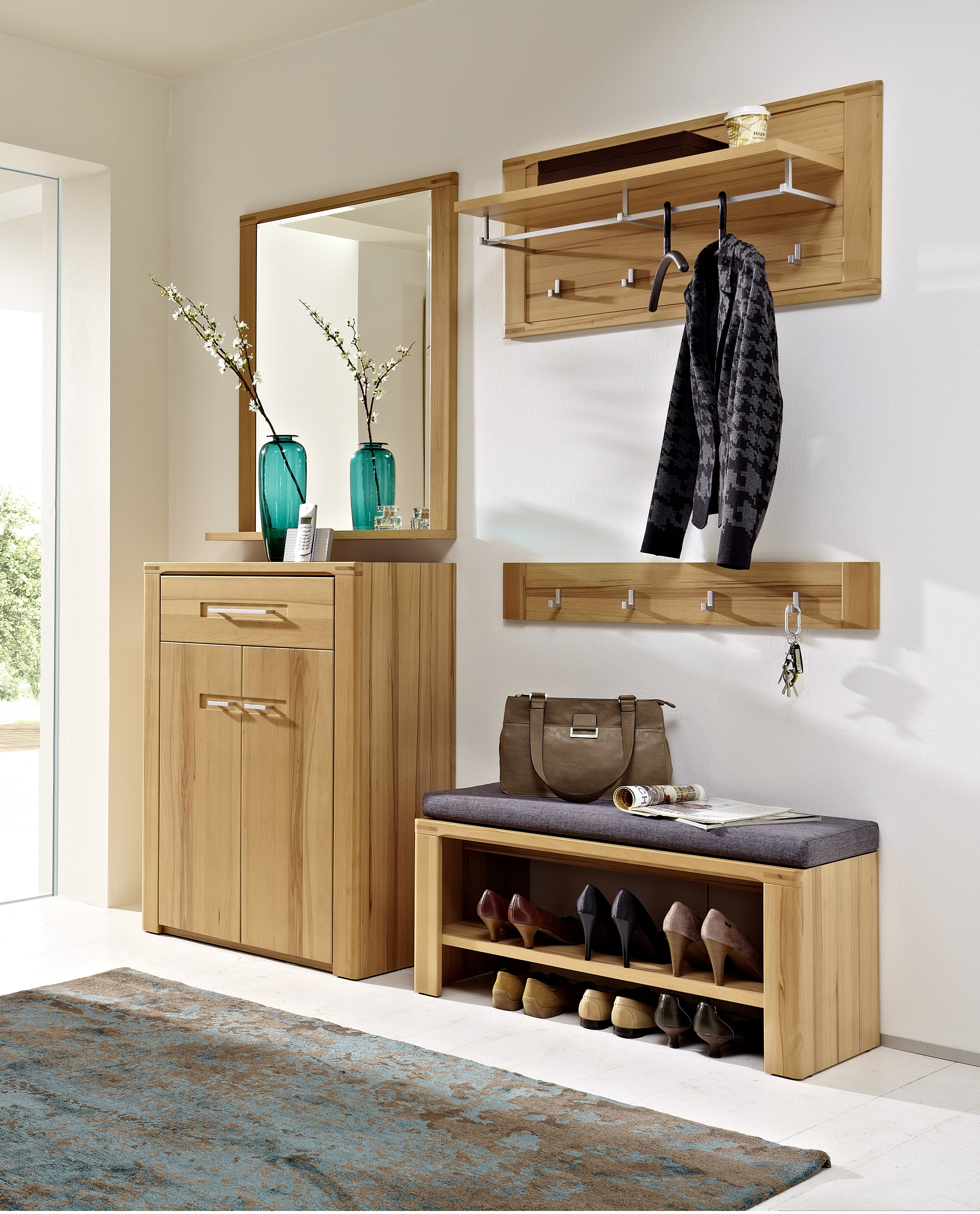 nestor plus garderobenpaneel. Black Bedroom Furniture Sets. Home Design Ideas