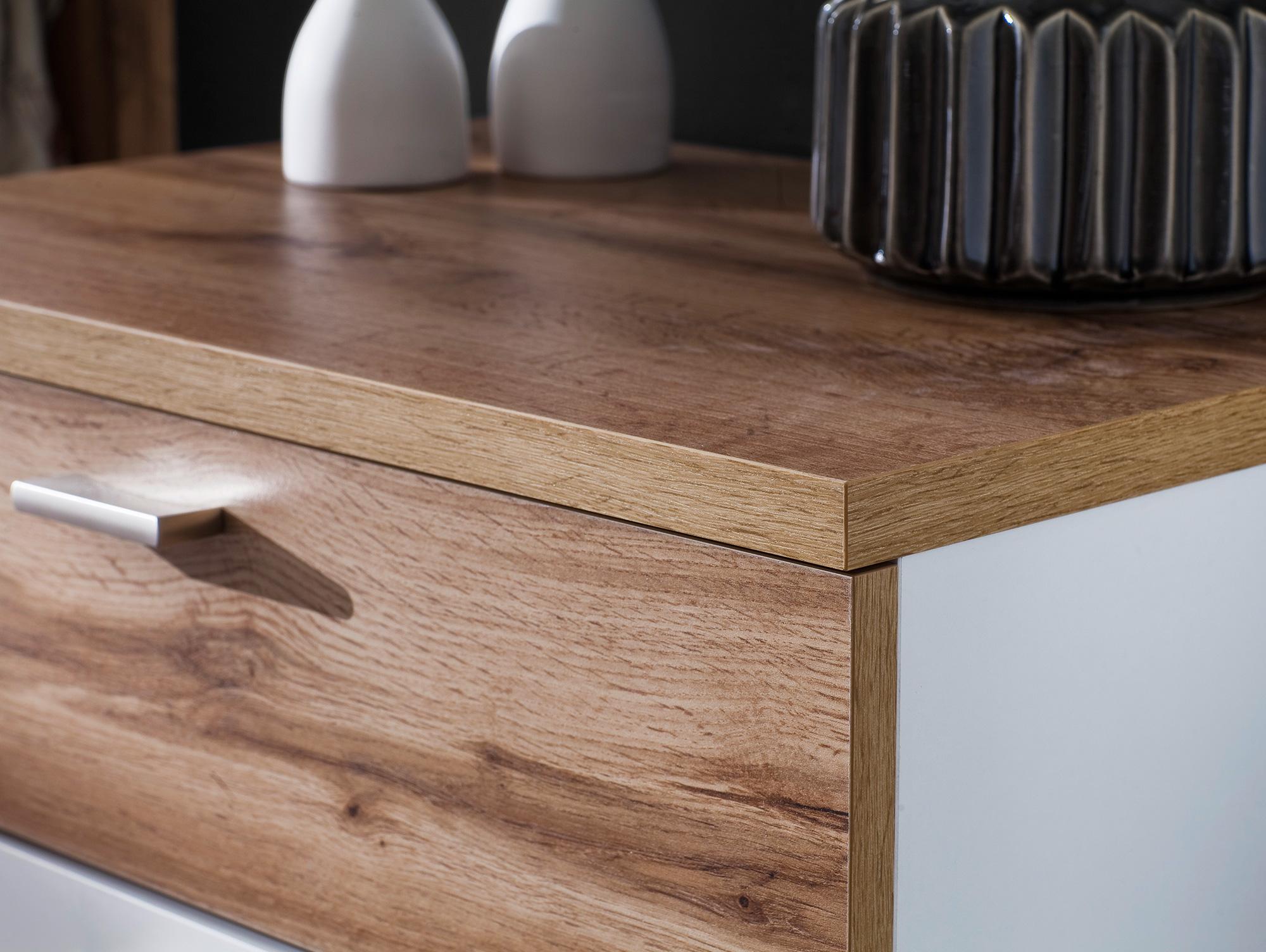northway schuhschrank mit 2 t ren weiss wotan eiche. Black Bedroom Furniture Sets. Home Design Ideas