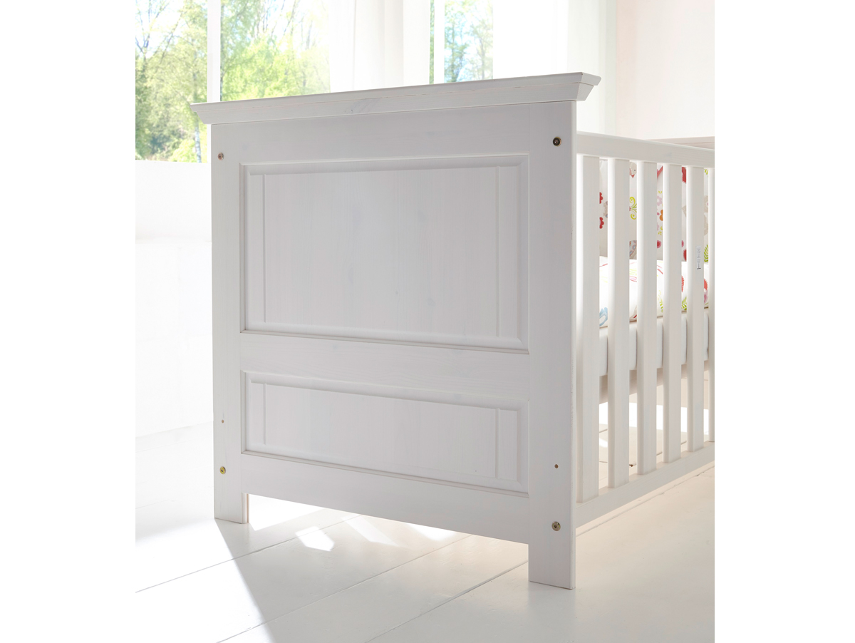 odette babybett kiefer massivholz wei gewachst. Black Bedroom Furniture Sets. Home Design Ideas