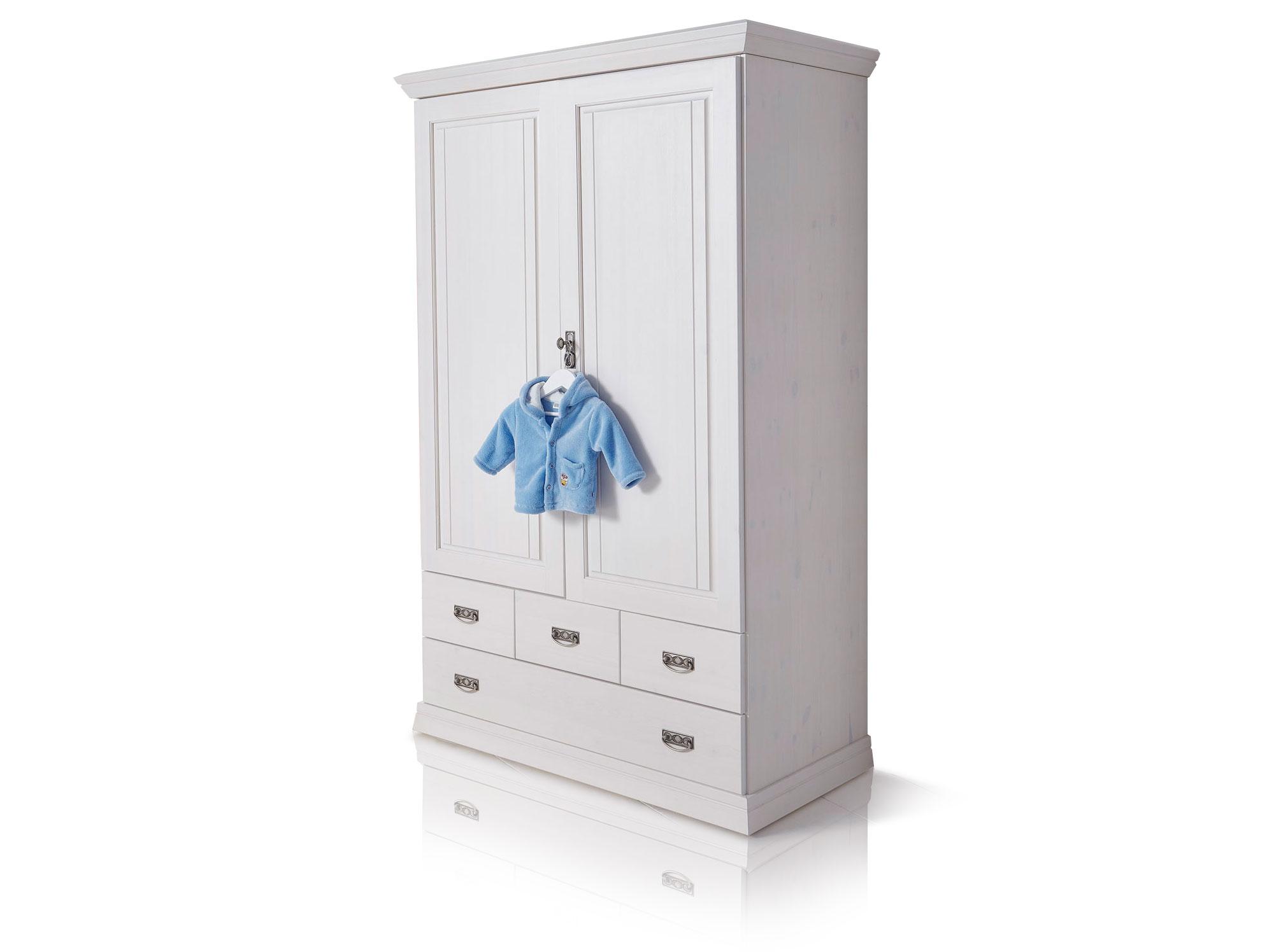 odette w scheschrank 2trg massiv wei gewachst. Black Bedroom Furniture Sets. Home Design Ideas