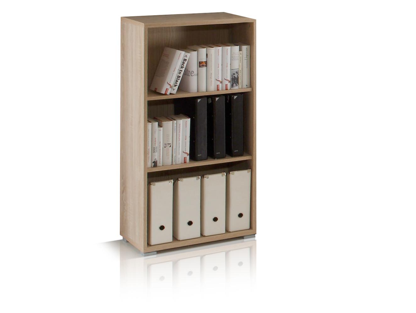 office line regal 3 f cher eiche sonoma. Black Bedroom Furniture Sets. Home Design Ideas