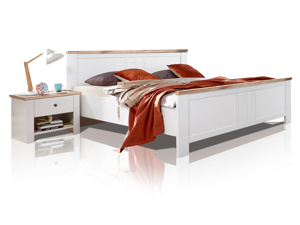 oldenburg doppelbett 140 cm. Black Bedroom Furniture Sets. Home Design Ideas