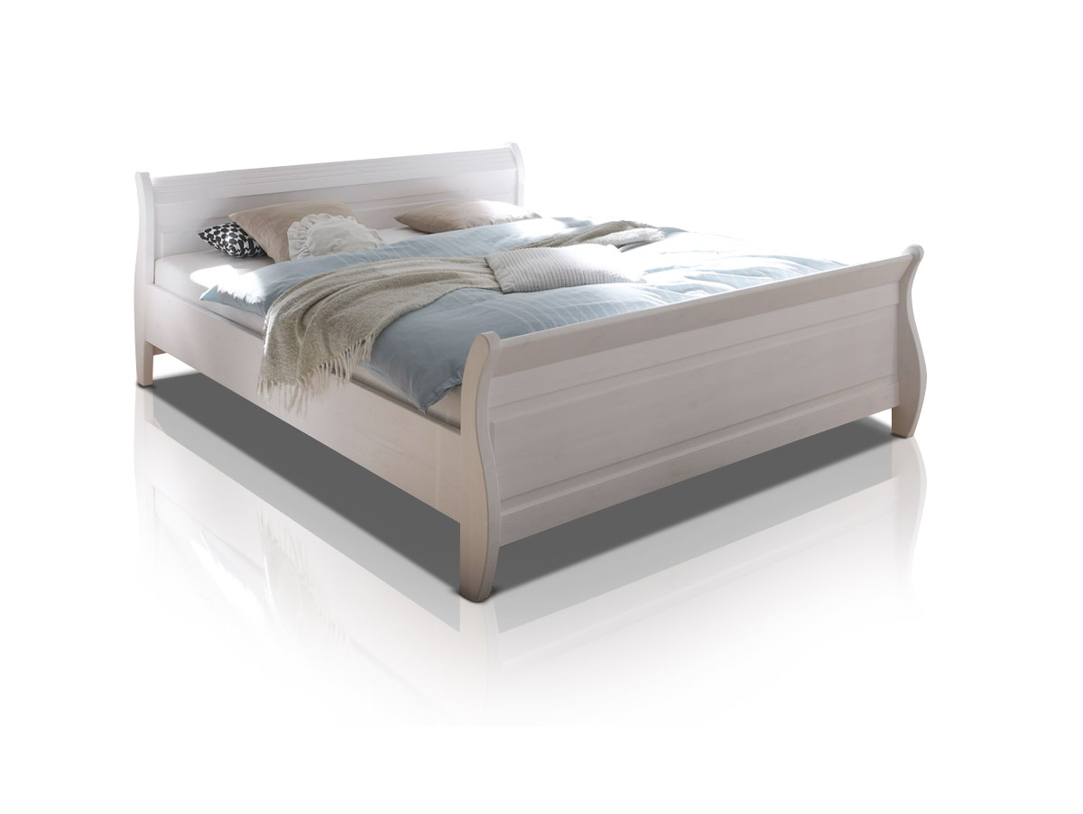 oxford doppelbett 180x200 cm kiefer wei. Black Bedroom Furniture Sets. Home Design Ideas