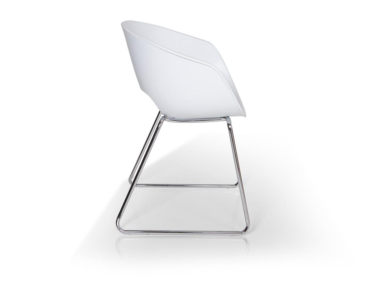 Esszimmerstühle Kunststoff retro esszimmerstuhl kunststoff weiß mit metallgestell
