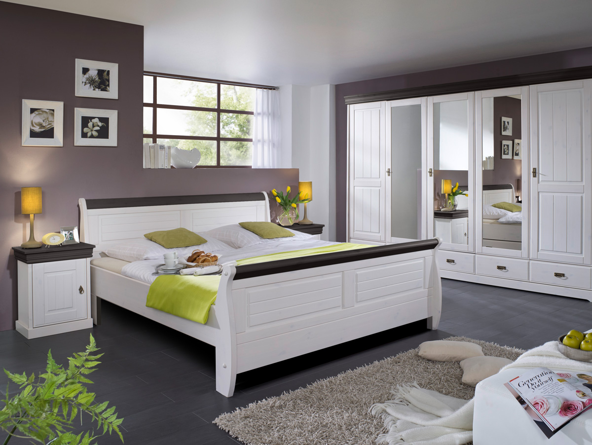 roman massivholzbett kiefer wei 100 x 200 weiss colonial ohne bettkasten. Black Bedroom Furniture Sets. Home Design Ideas