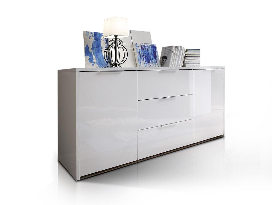seta sideboard wei hochglanz lackiert. Black Bedroom Furniture Sets. Home Design Ideas