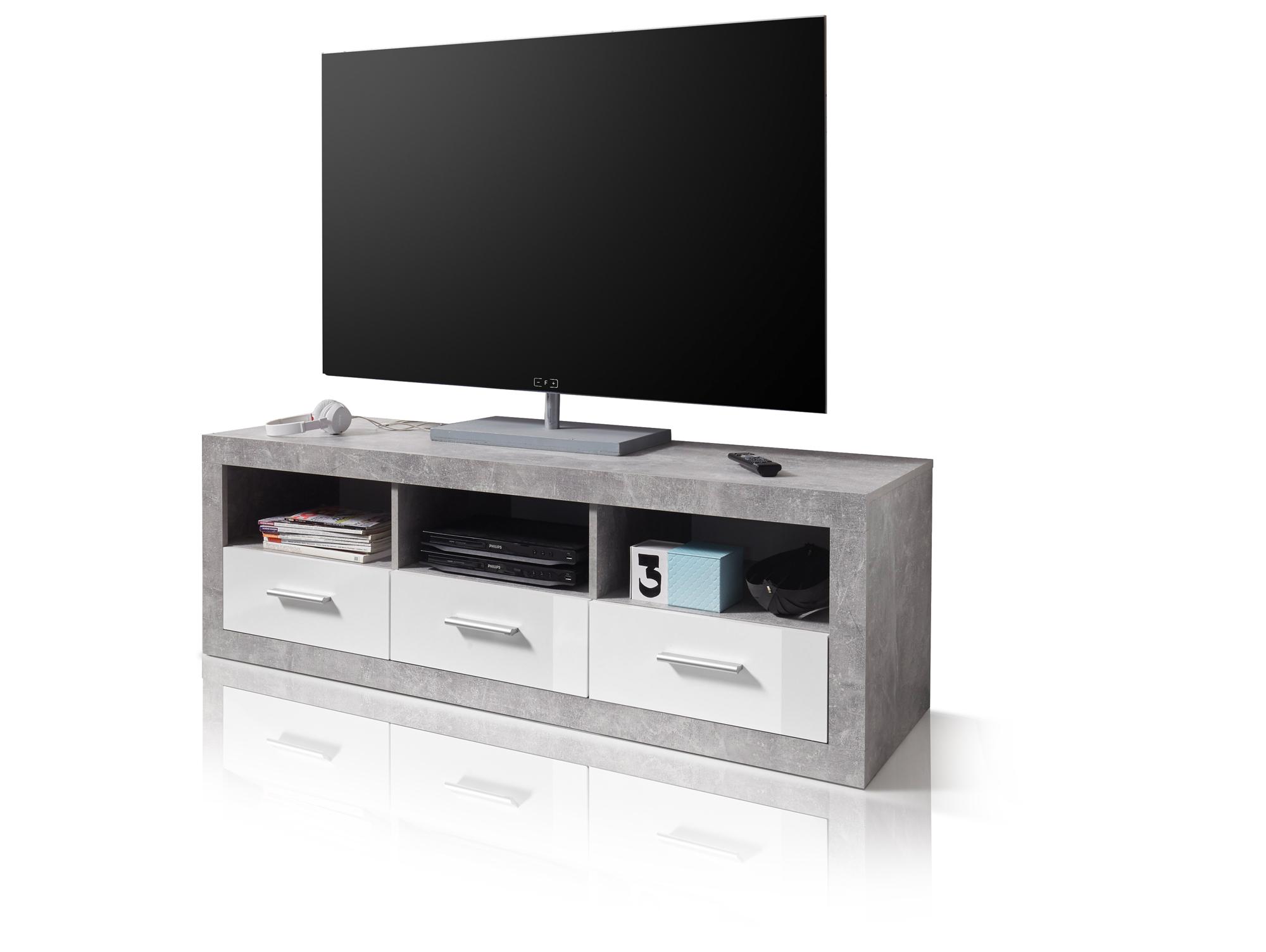 stella lowboard beton wei. Black Bedroom Furniture Sets. Home Design Ideas