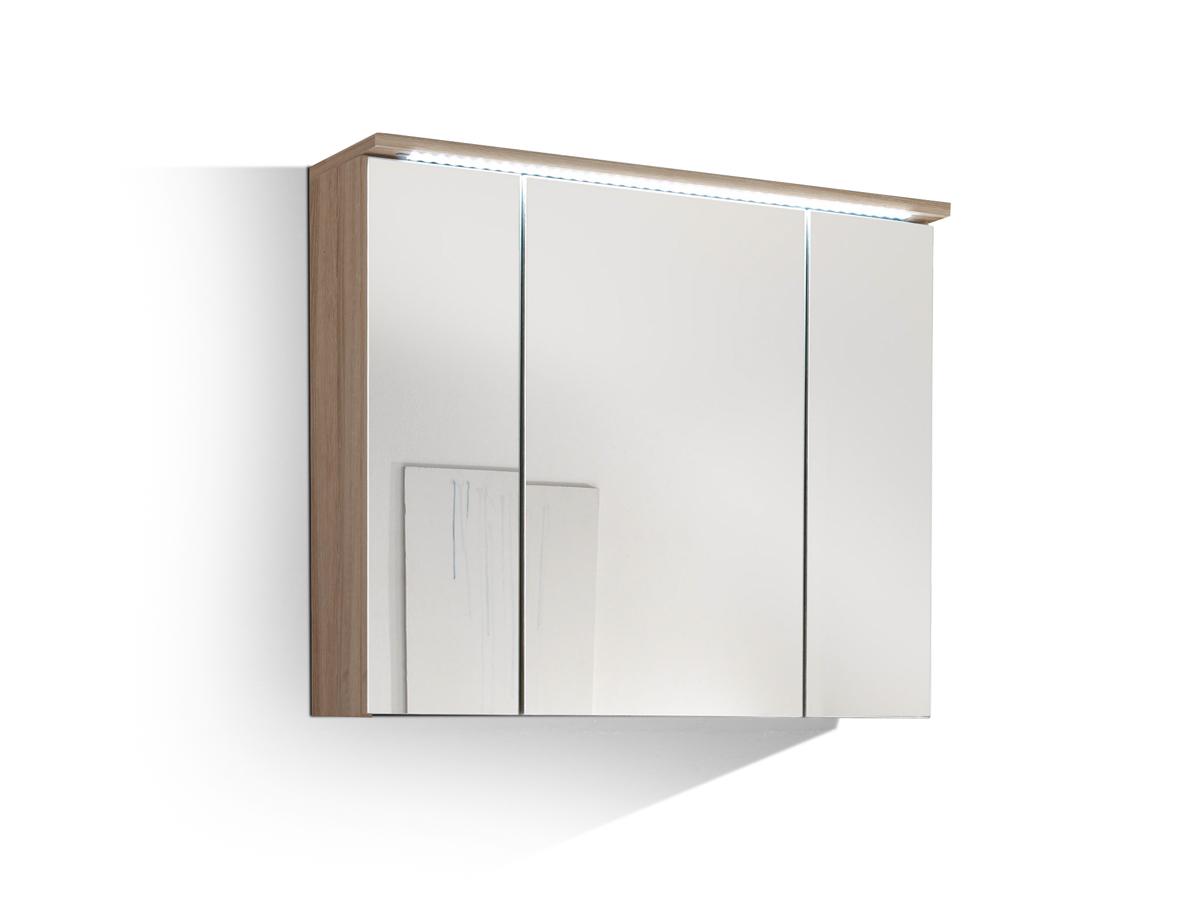 slot spiegelschrank inkl led beleuchtung eiche sonoma. Black Bedroom Furniture Sets. Home Design Ideas