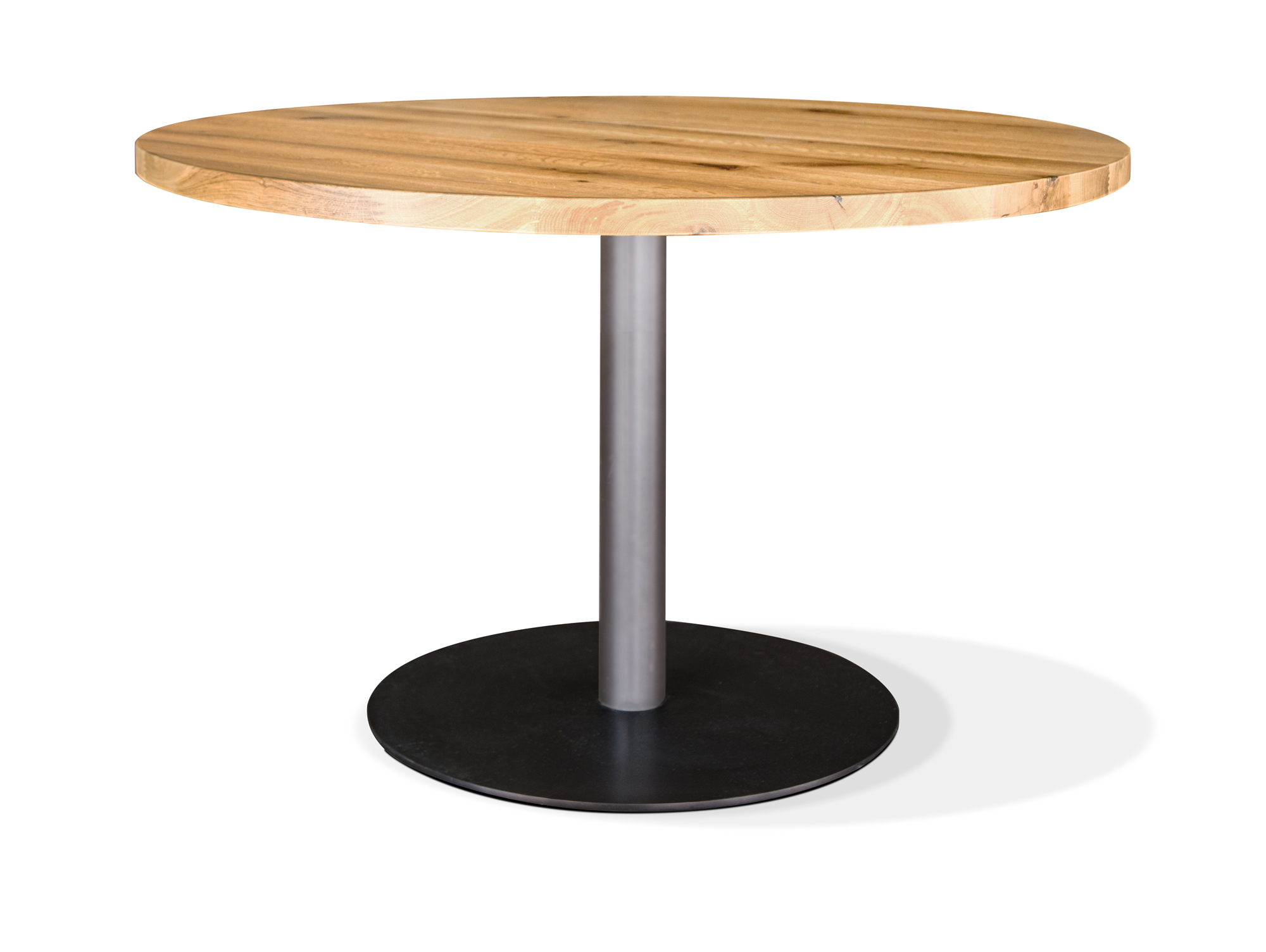 Esstisch rund weiß eiche  GASTRO Esstisch rund Eiche lackiert 100 cm
