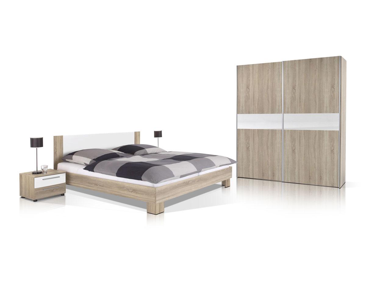 Vanti komplett schlafzimmer 4 teilig eiche sonoma/weiß
