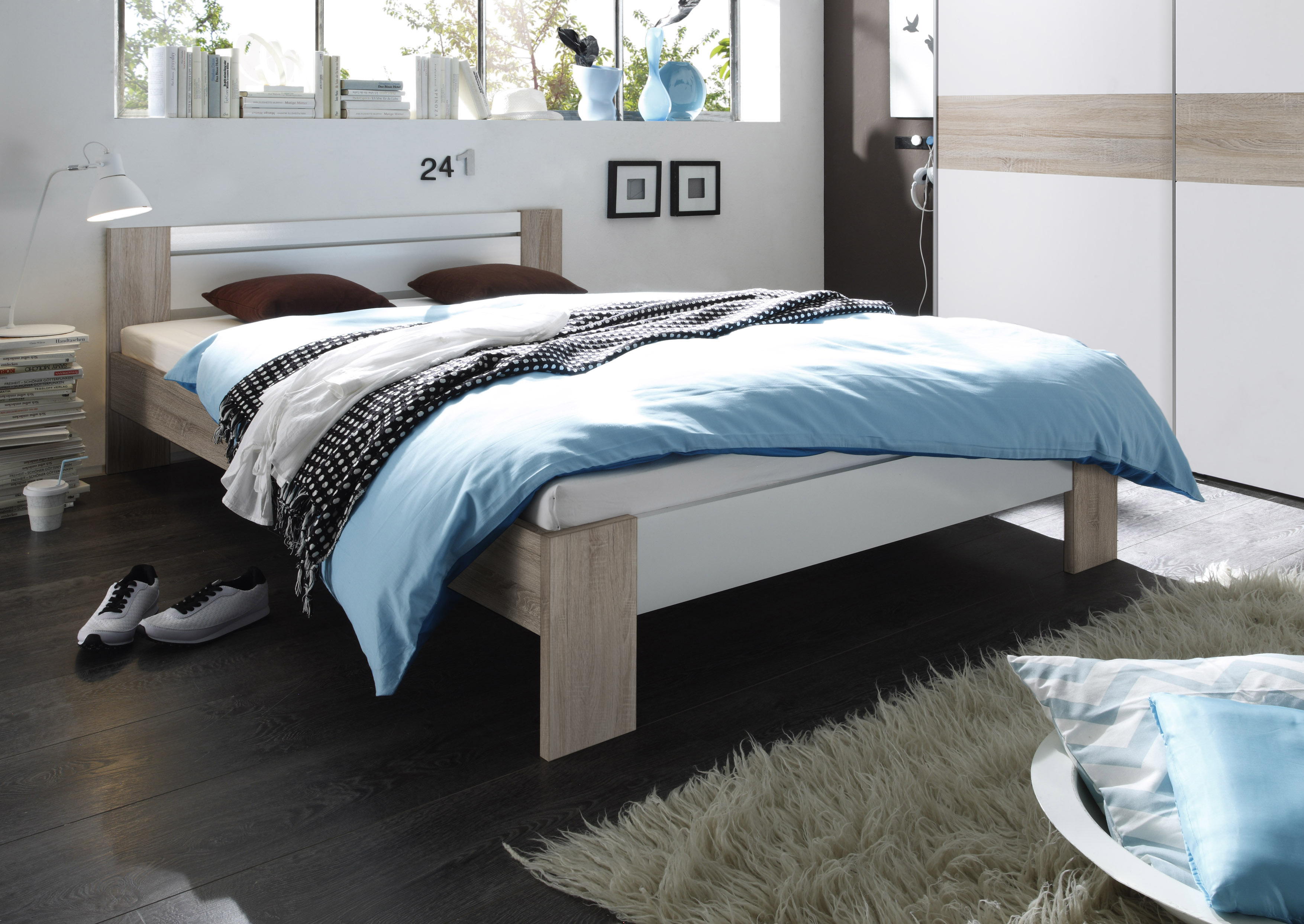 vegas komplett set futonbett 140x200 cm inkl rollrost und matratze. Black Bedroom Furniture Sets. Home Design Ideas