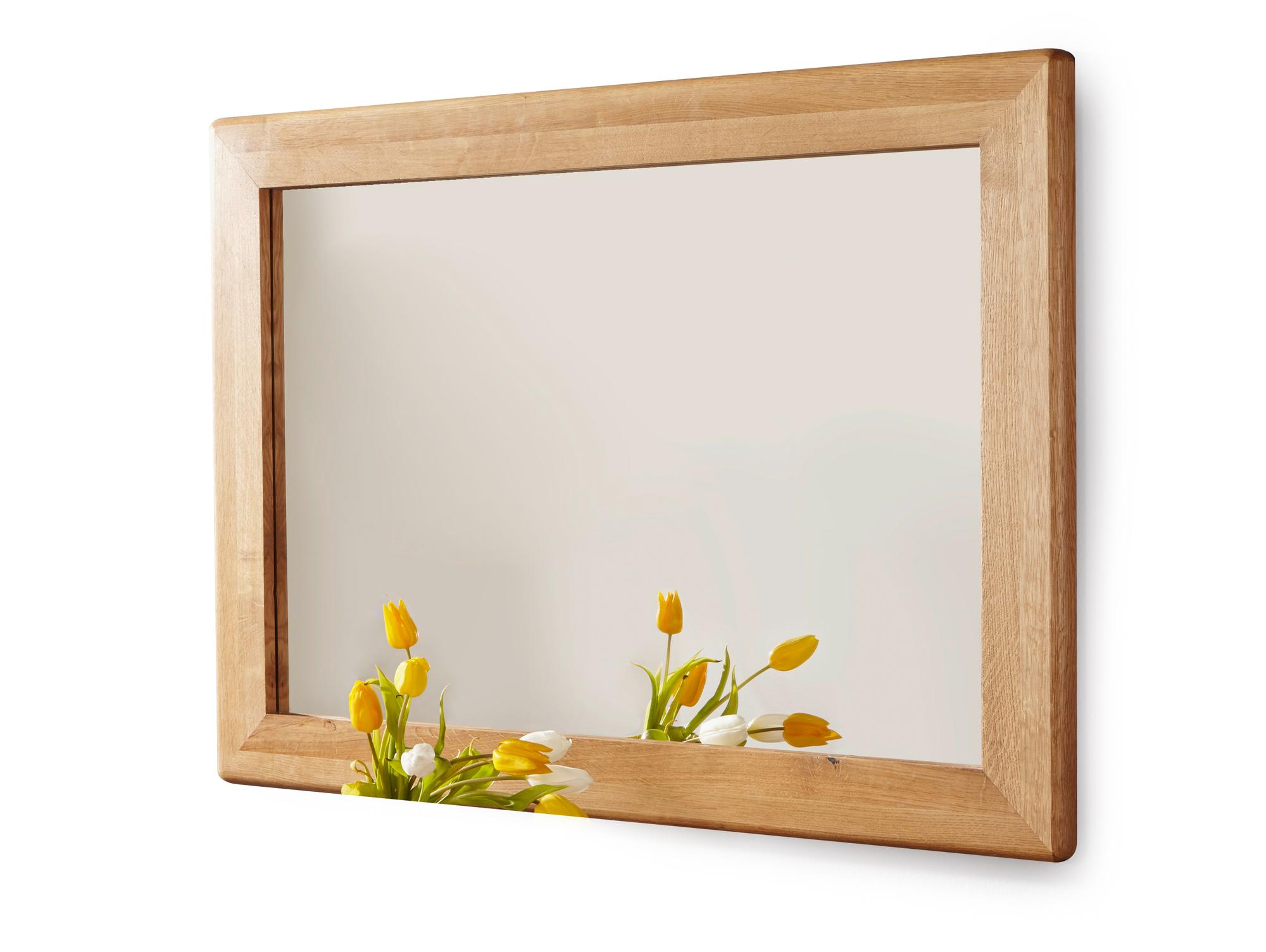 Verona spiegel 100x70 cm wildeiche ge lt - Spiegel holzrahmen eiche ...