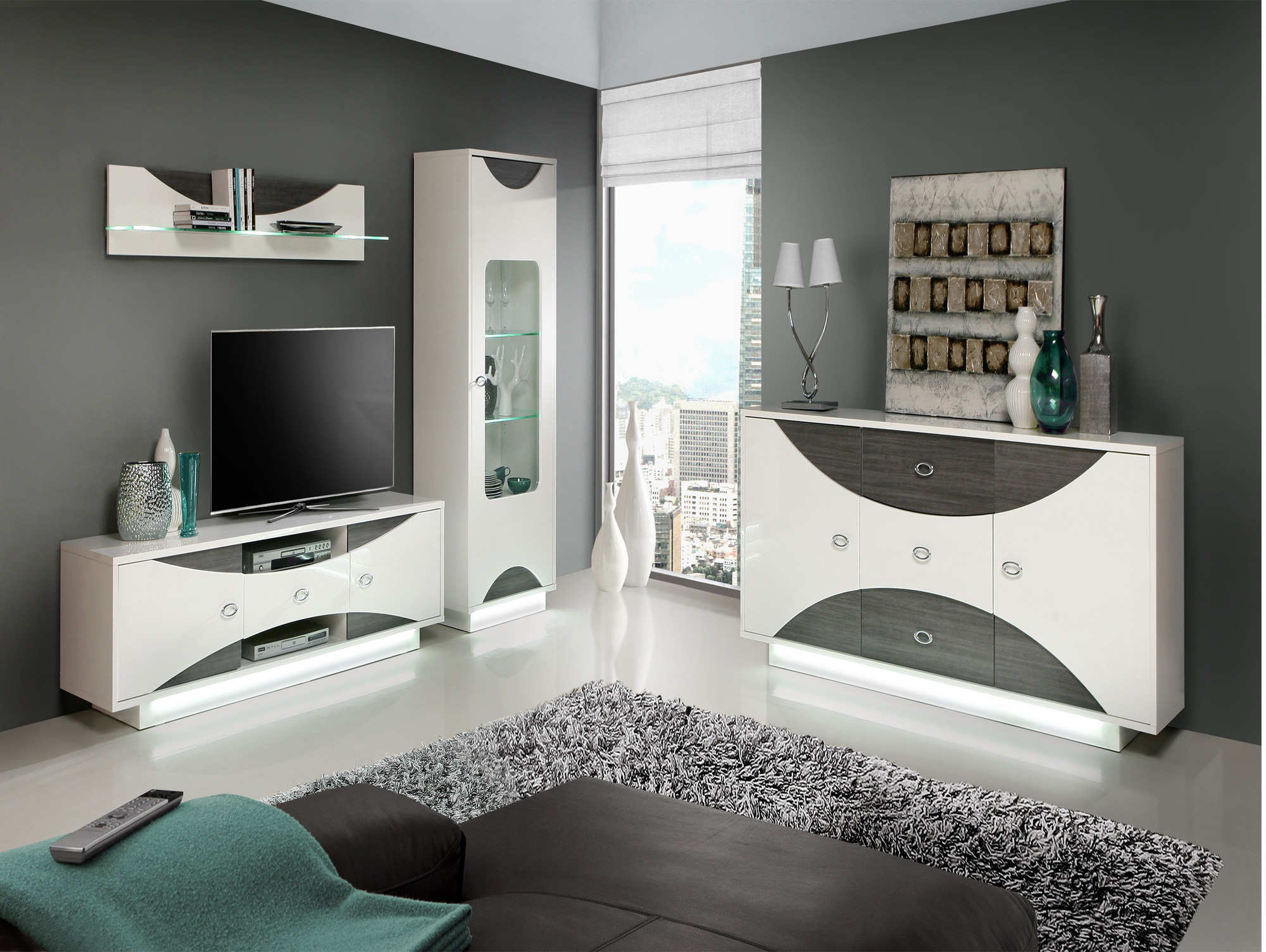 wanda couchtisch wei eiche grau. Black Bedroom Furniture Sets. Home Design Ideas