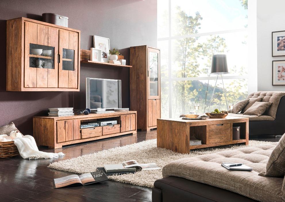 whitney massivholz sideboard sheesham gebeizt. Black Bedroom Furniture Sets. Home Design Ideas