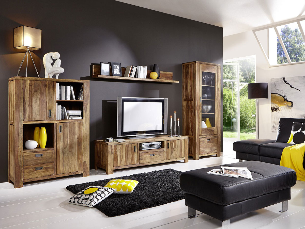 babylon ii tv board sheesham gebeizt. Black Bedroom Furniture Sets. Home Design Ideas