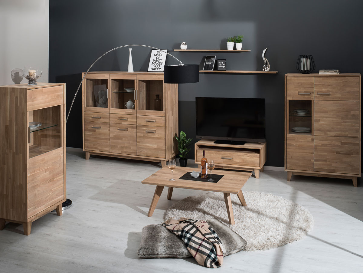 nepal i tv lowboard massivholz ge lt eiche. Black Bedroom Furniture Sets. Home Design Ideas