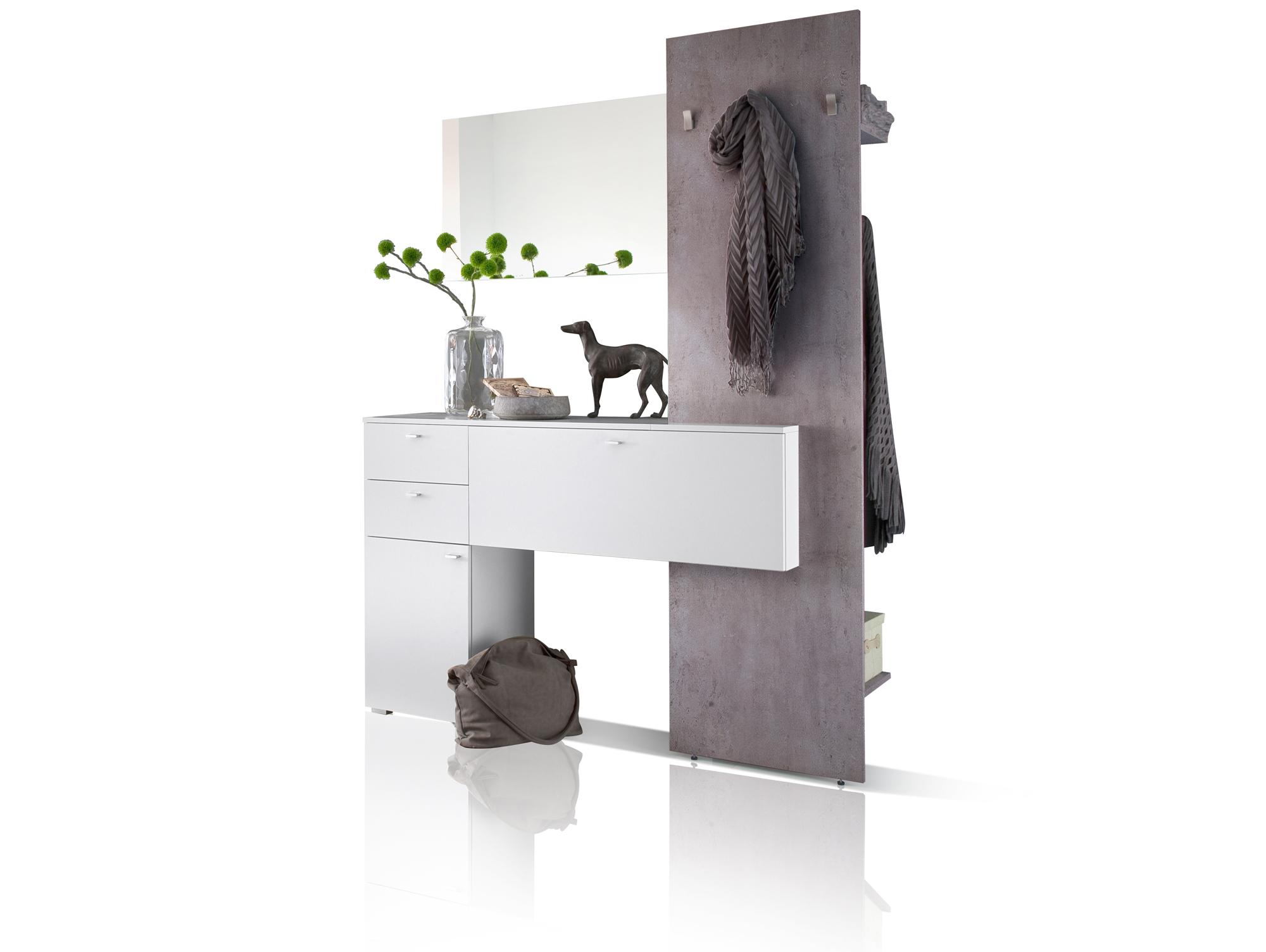Garderobe betonoptik best garderobe weiss betonoptik for Garderobe komplett programme