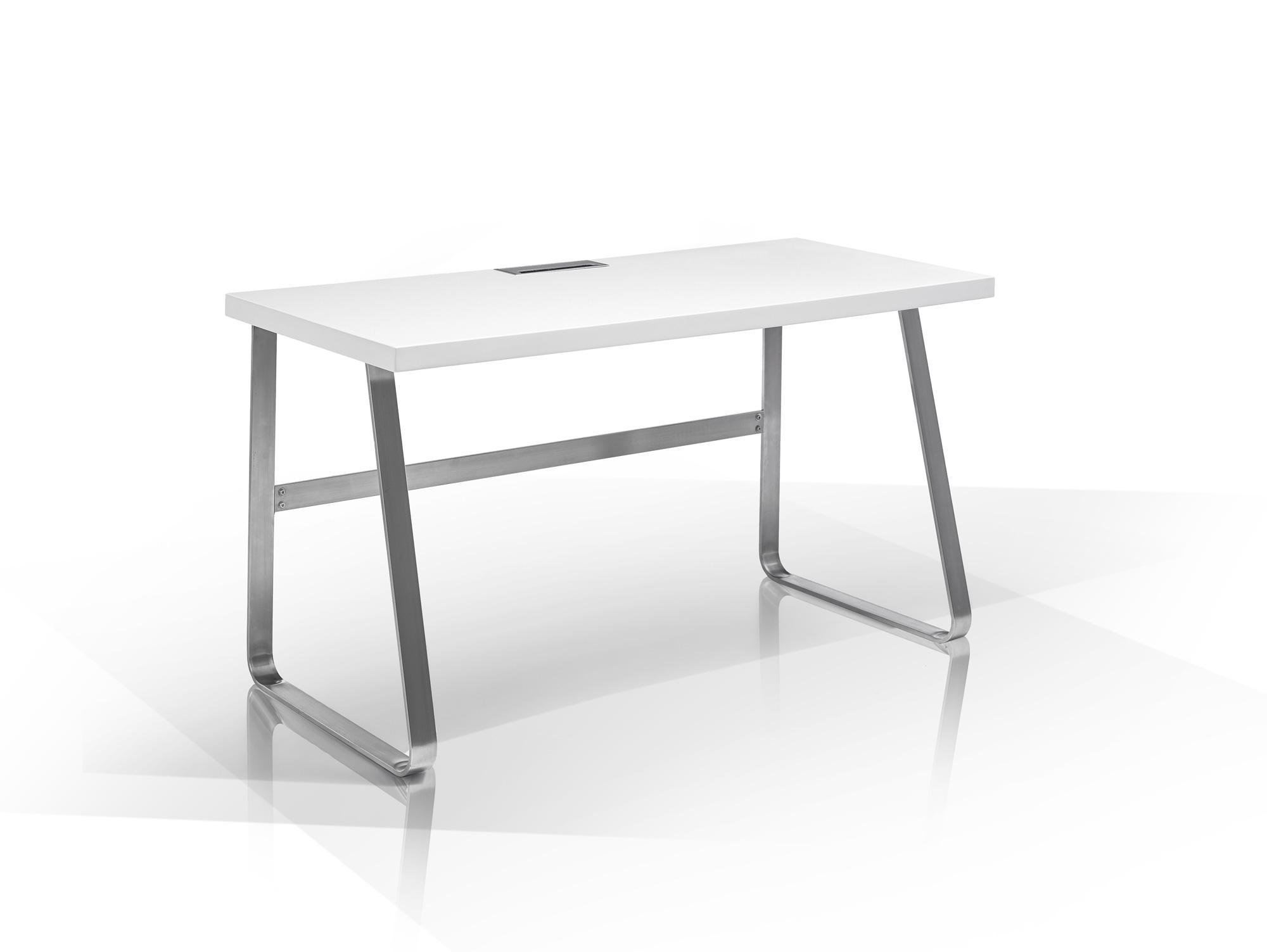 bailey ii schreibtisch matt wei. Black Bedroom Furniture Sets. Home Design Ideas
