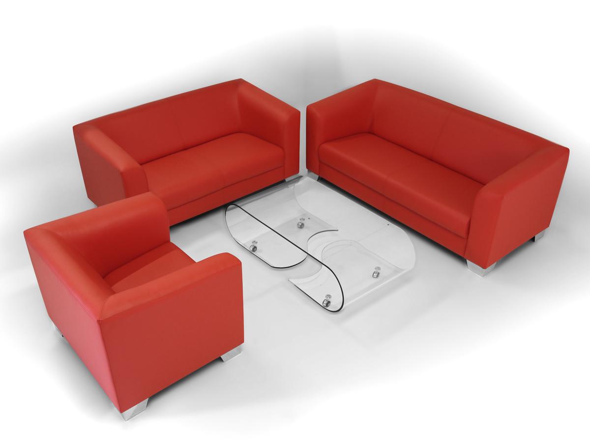 chicago 2 sitzer sofa ledersofa rot. Black Bedroom Furniture Sets. Home Design Ideas