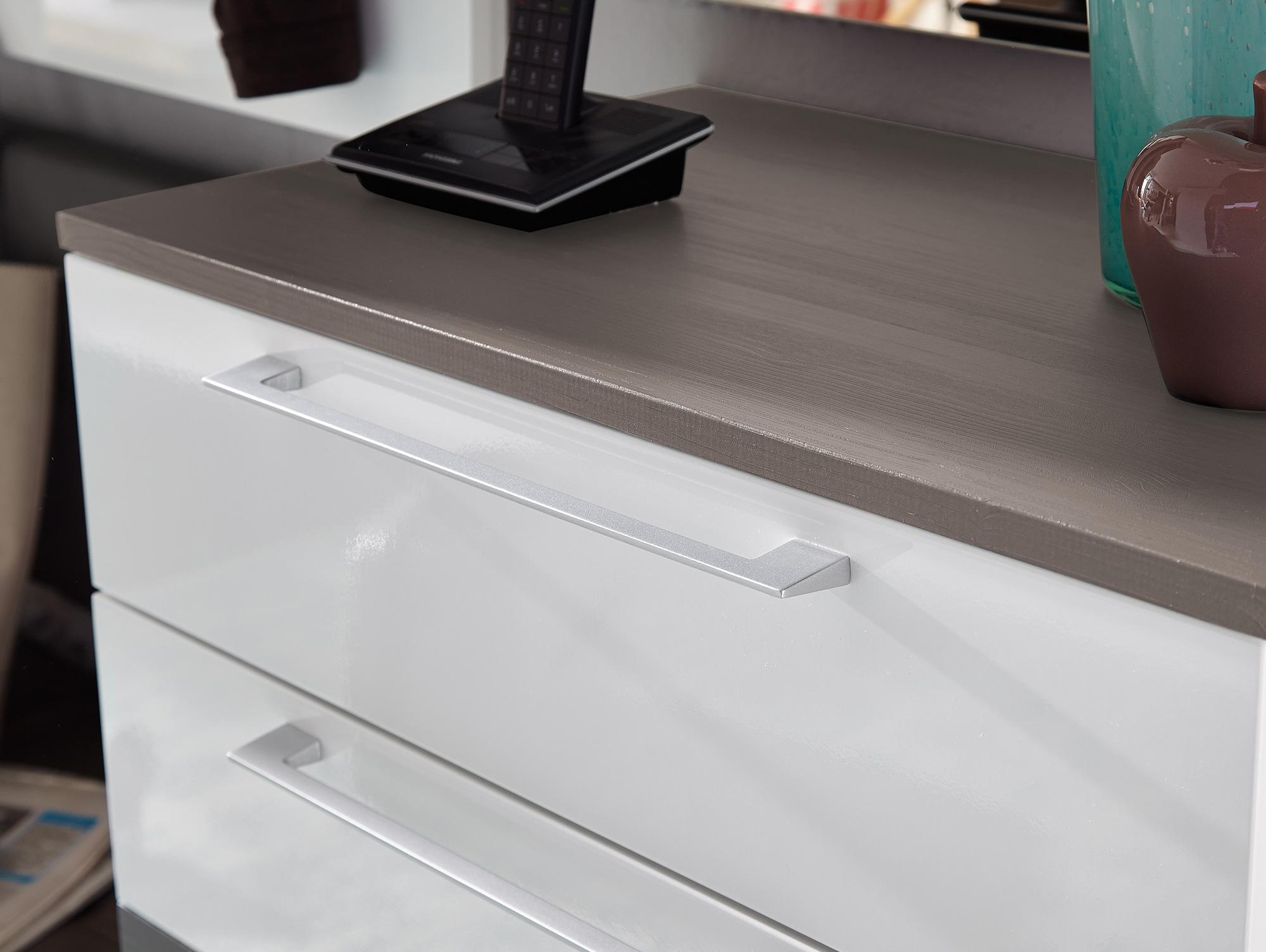 rene garderoben kombination weiss hochglanz weiss hg grau. Black Bedroom Furniture Sets. Home Design Ideas