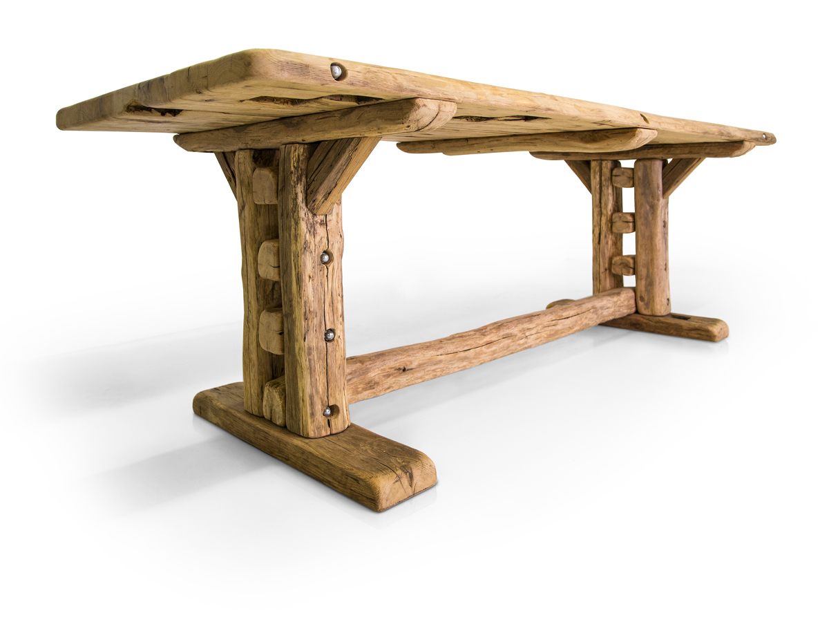 wikinger ii massivholzesstisch rustika 200 cm. Black Bedroom Furniture Sets. Home Design Ideas