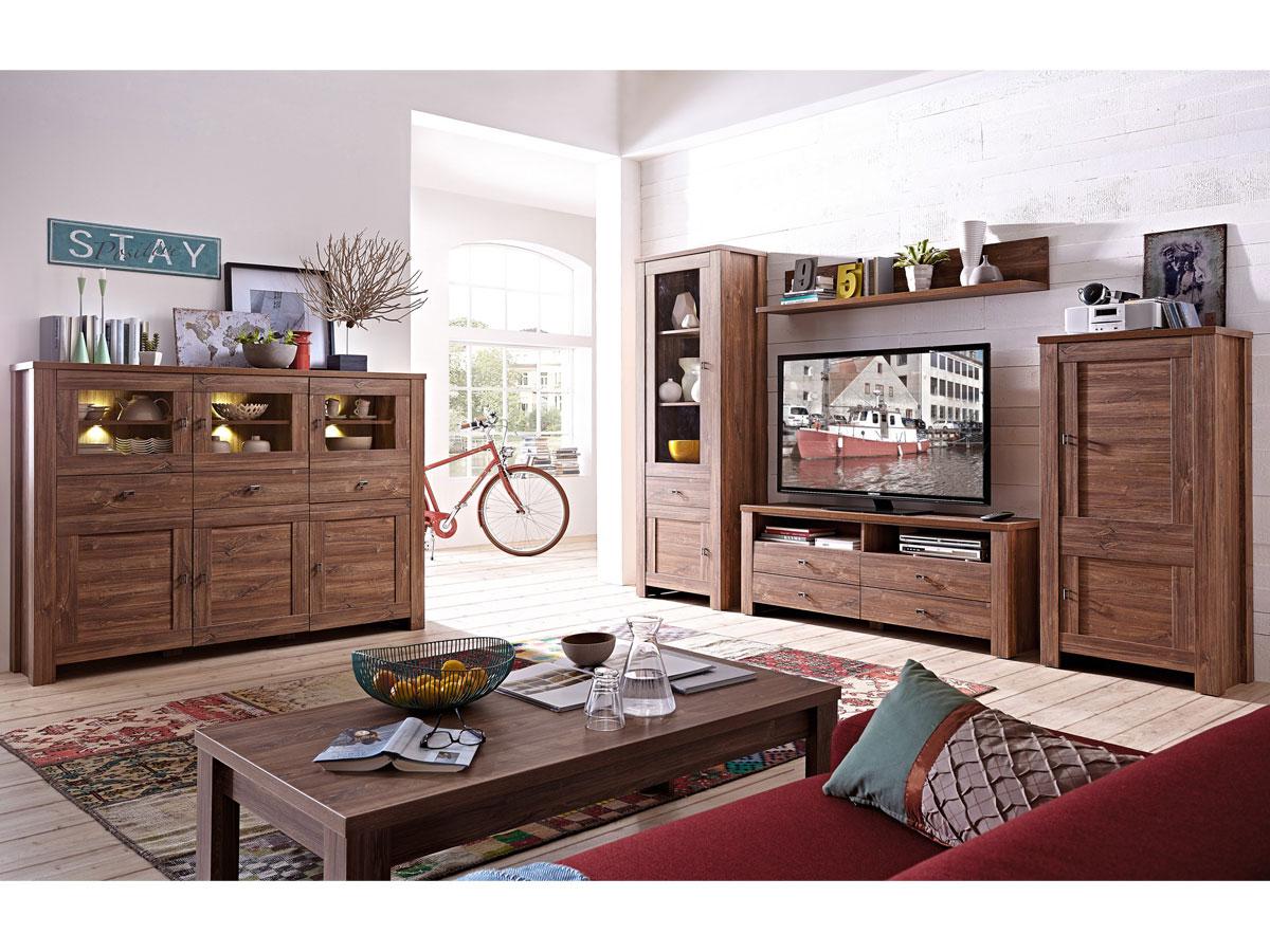 bern i wohnwand akazie dunkel. Black Bedroom Furniture Sets. Home Design Ideas