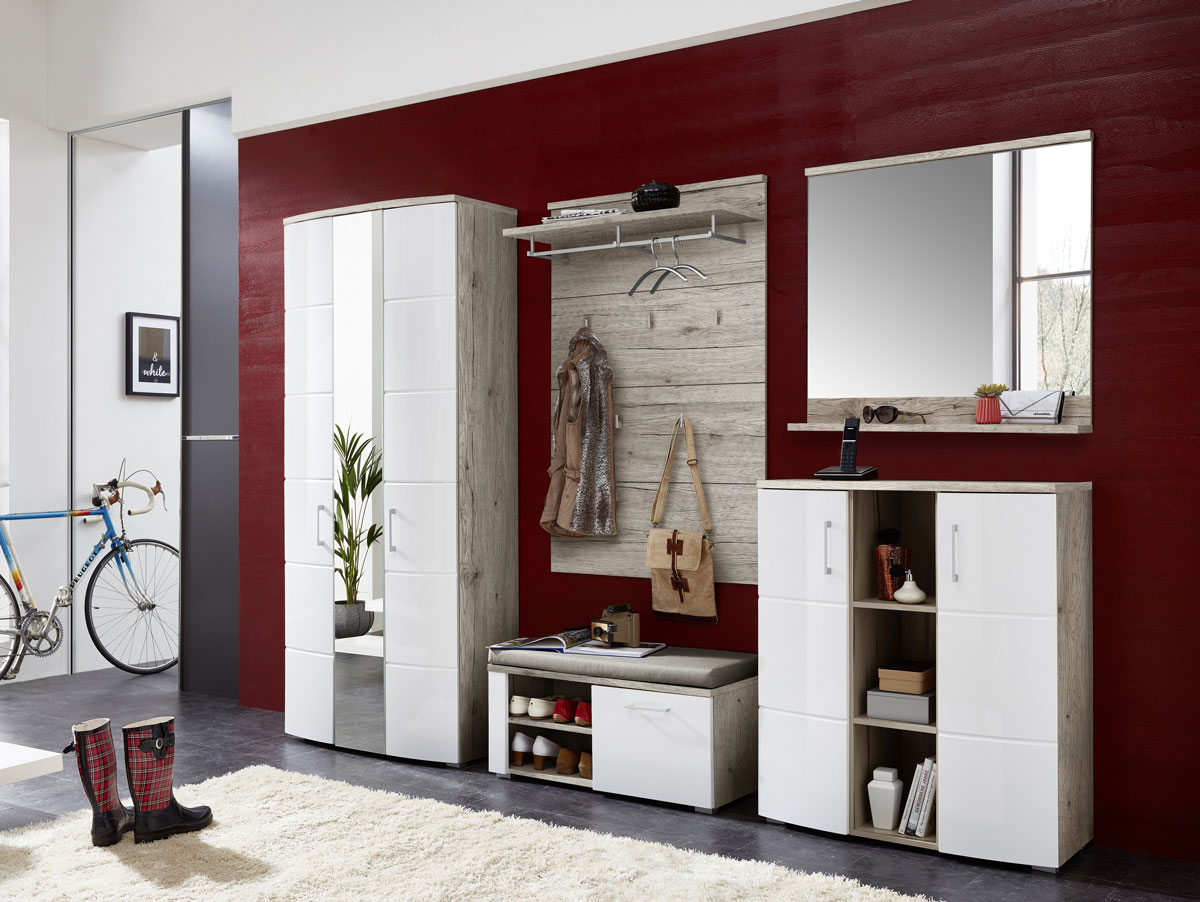 ronny garderobenpaneel sandeiche. Black Bedroom Furniture Sets. Home Design Ideas