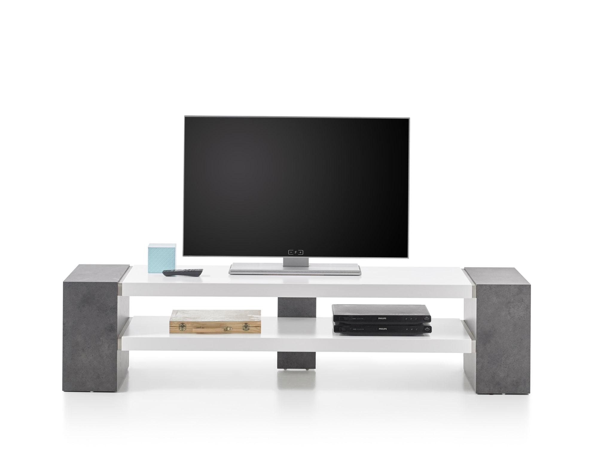 jena tv lowboard weiss beton dekor. Black Bedroom Furniture Sets. Home Design Ideas