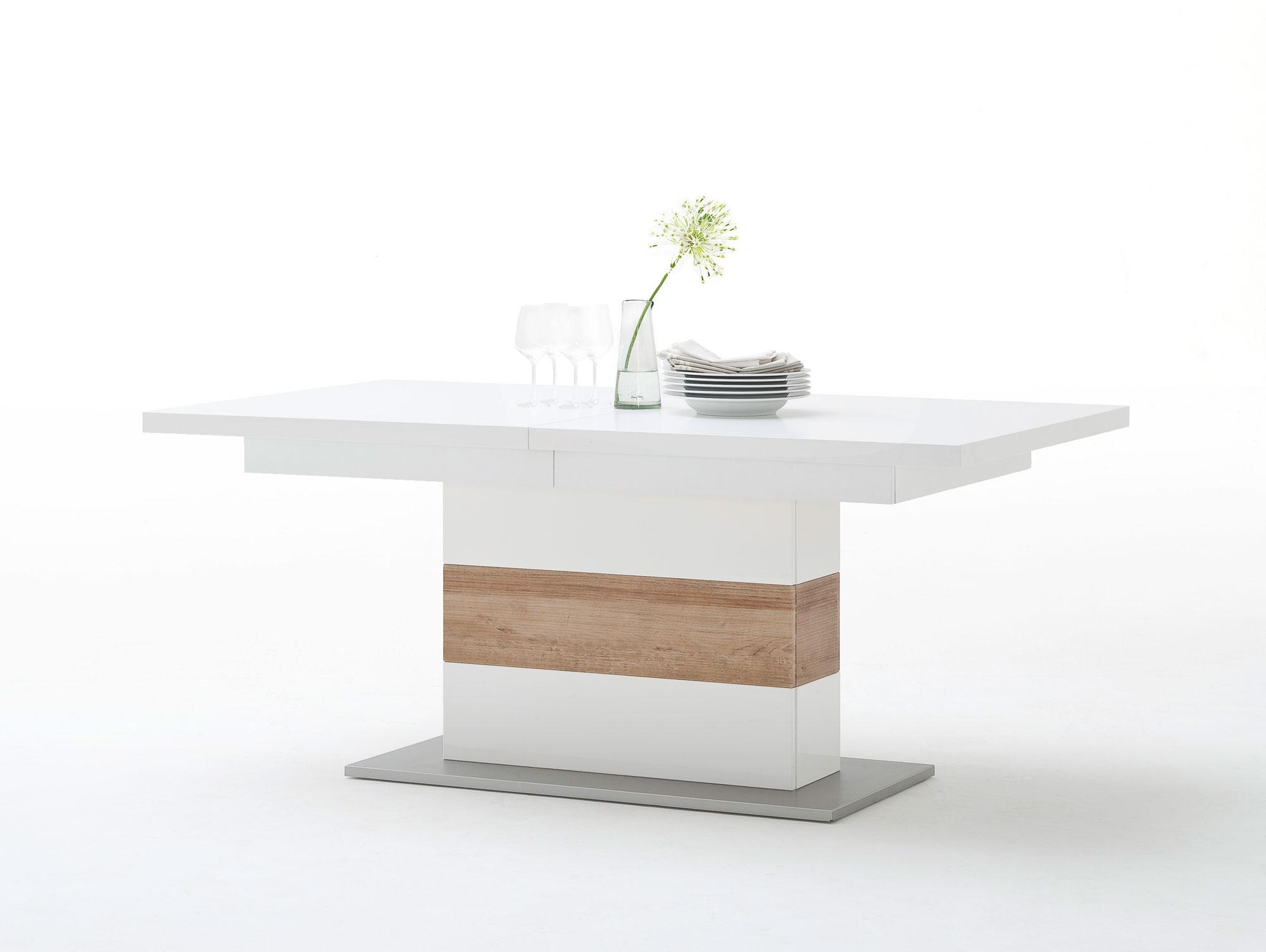 panorama esstisch 180 230x100 cm wei eiche riviera. Black Bedroom Furniture Sets. Home Design Ideas
