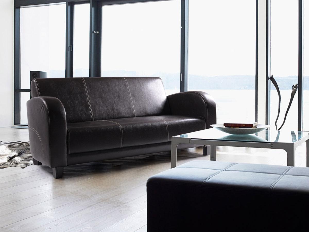 anto sofa 3 sitzer antikbraun f sse nussbaumfarben. Black Bedroom Furniture Sets. Home Design Ideas