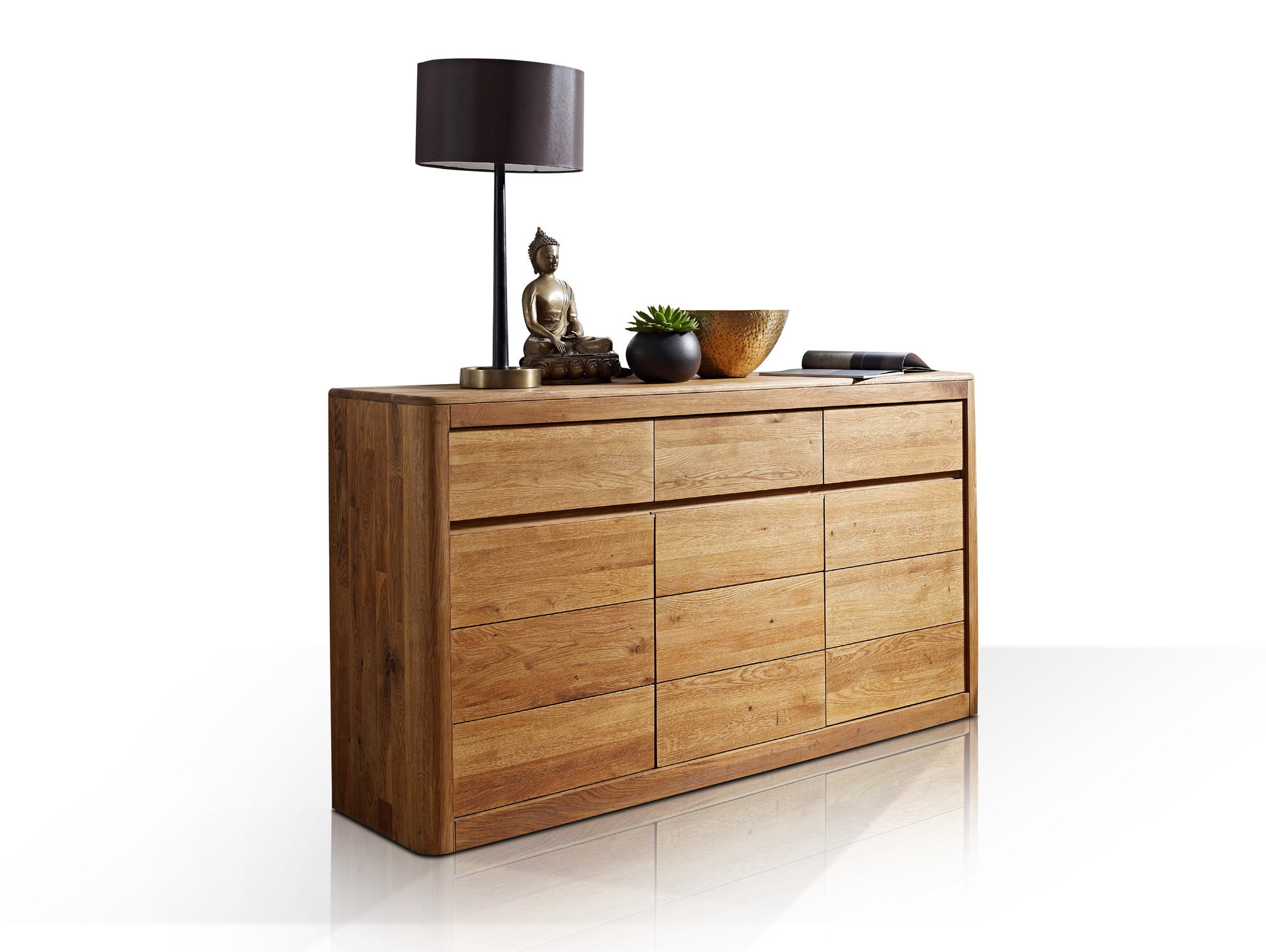 astoria sideboard wildeiche massiv ge lt. Black Bedroom Furniture Sets. Home Design Ideas