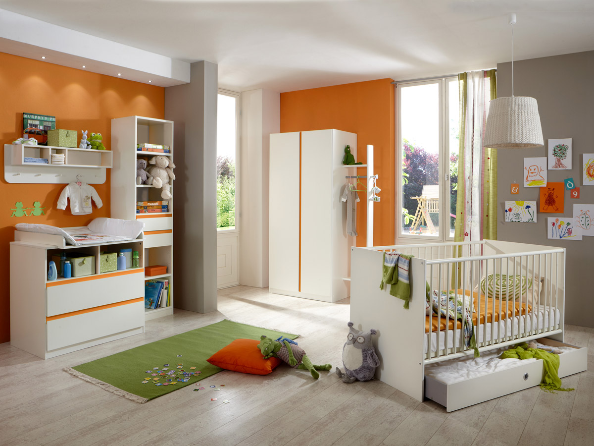 becca jugendbett 90x200 cm weiss orange. Black Bedroom Furniture Sets. Home Design Ideas