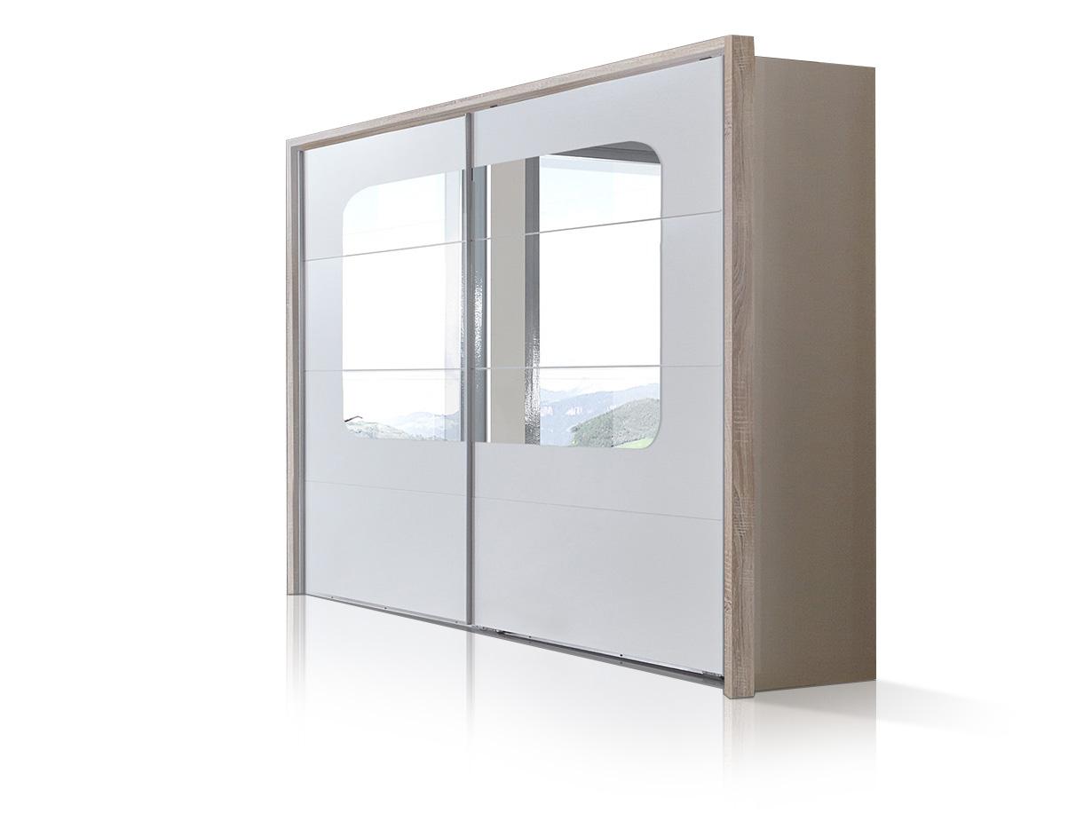 batida schwebet renschrank 225 cm weiss eiche s gerau. Black Bedroom Furniture Sets. Home Design Ideas