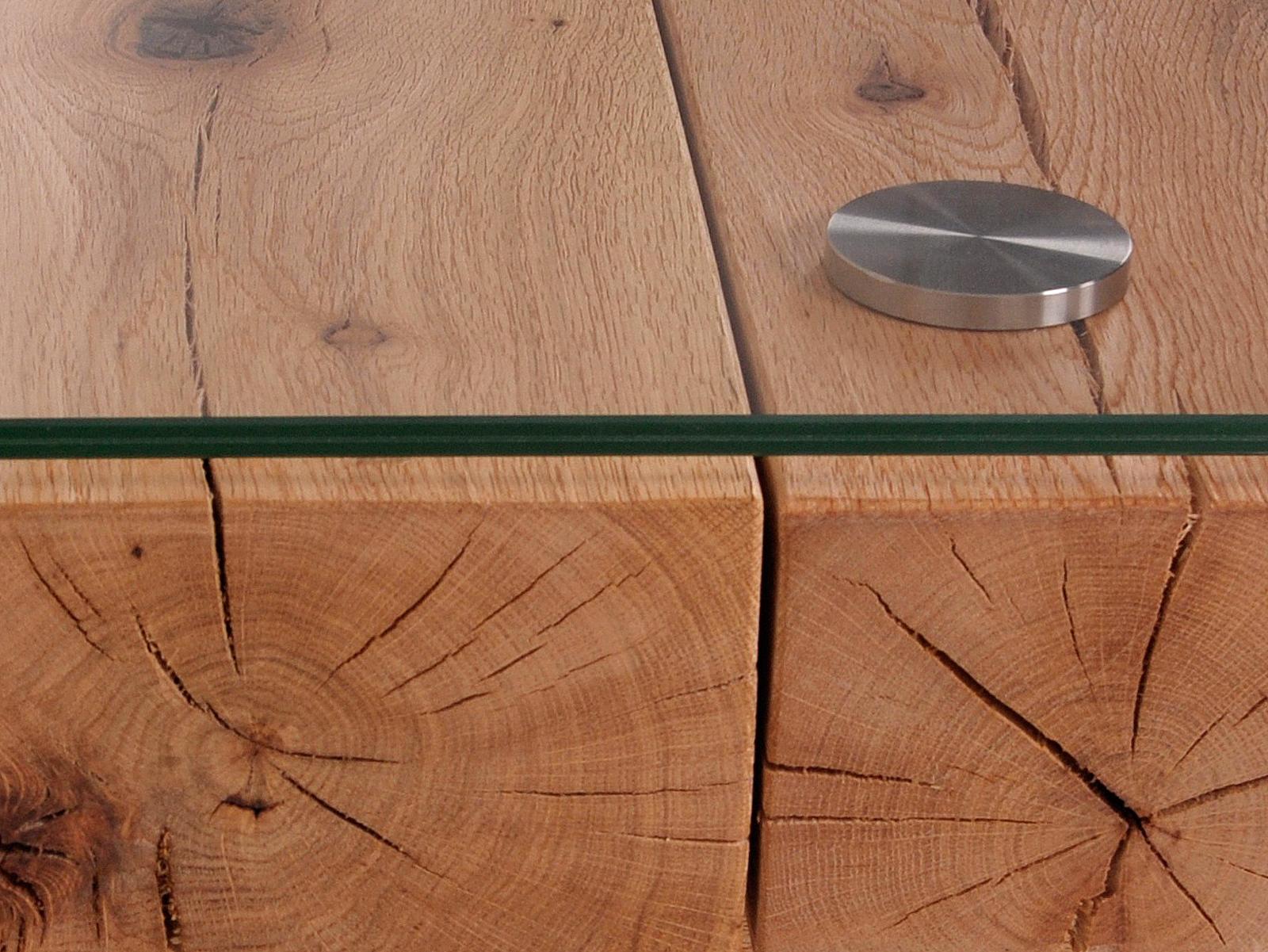 BELLA Couchtisch Sumpfeiche 160 cm  stufig