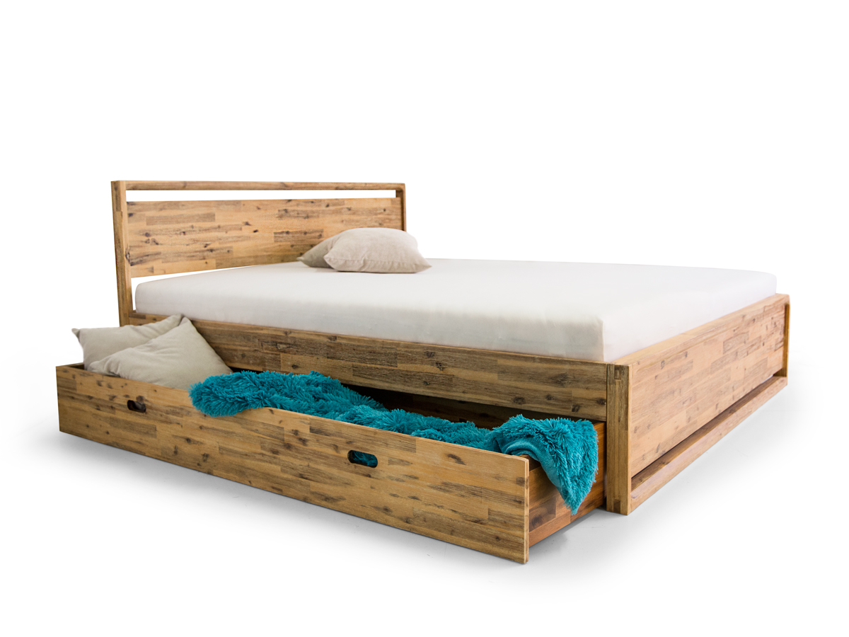 bado komfortbett 180x200 cm akazie brushed. Black Bedroom Furniture Sets. Home Design Ideas