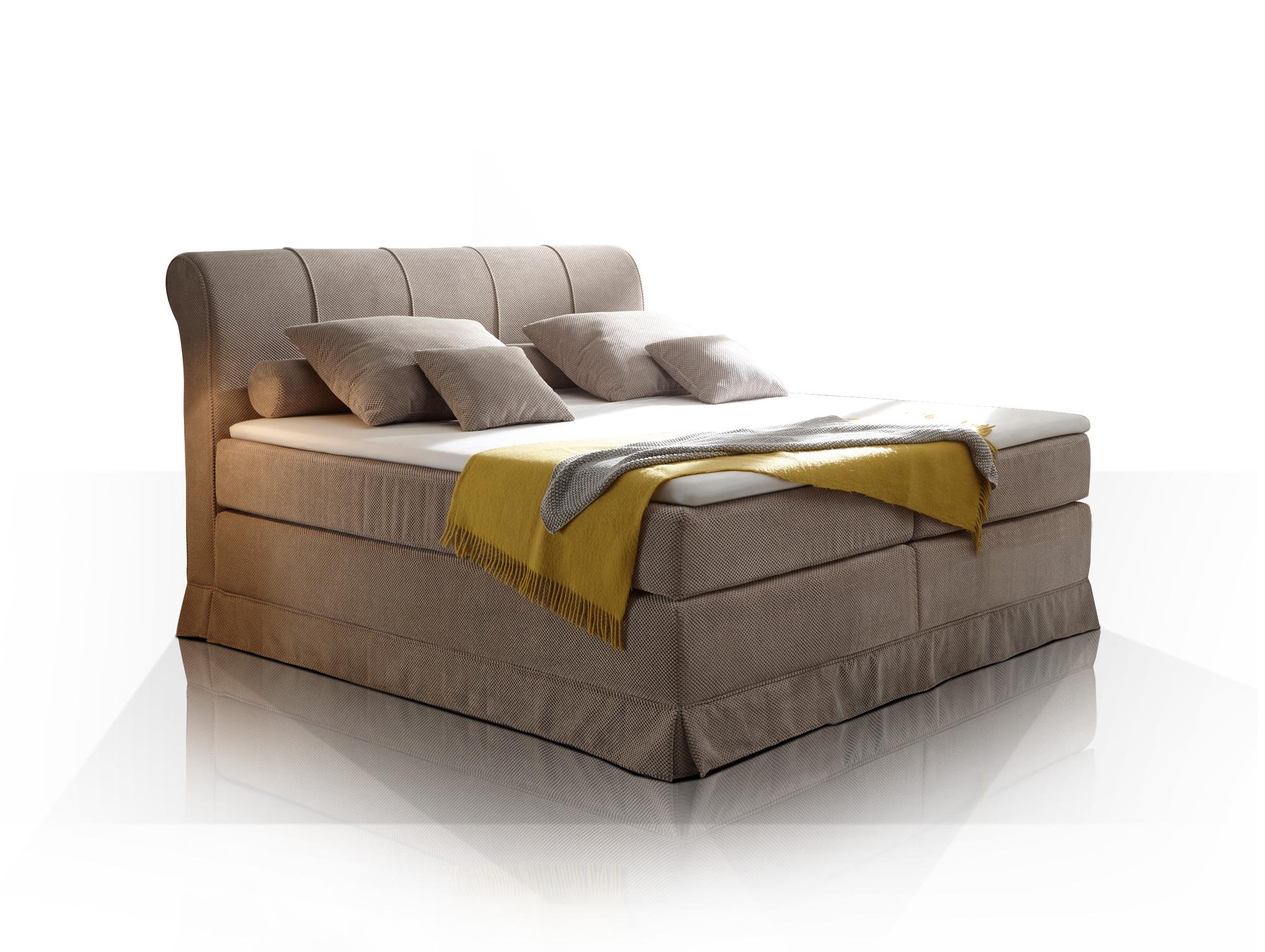 carlson boxspringbett beige beige mit kaltschaum topper. Black Bedroom Furniture Sets. Home Design Ideas