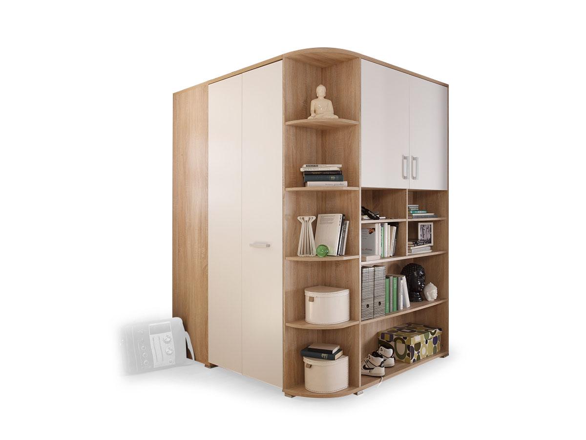 casper eckschrank eiche sonoma wei. Black Bedroom Furniture Sets. Home Design Ideas