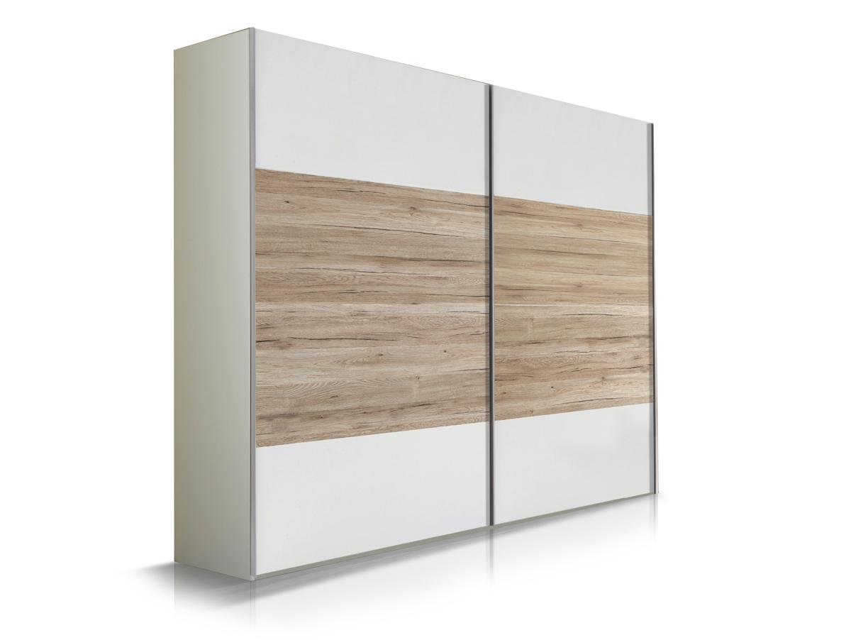 flores schwebet renschrank weiss sanremo eiche 225 cm. Black Bedroom Furniture Sets. Home Design Ideas